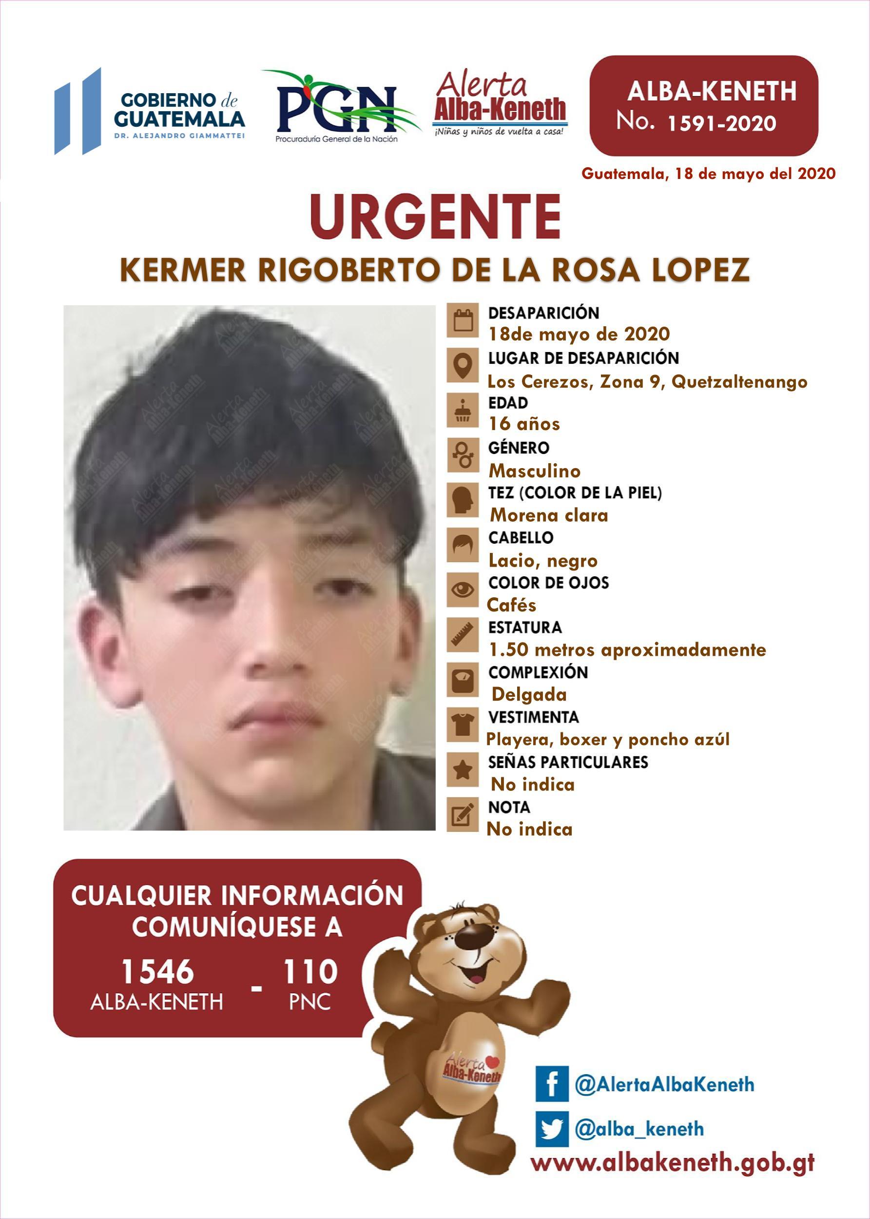 Kermer Rigoberto de la Rosa Lopez