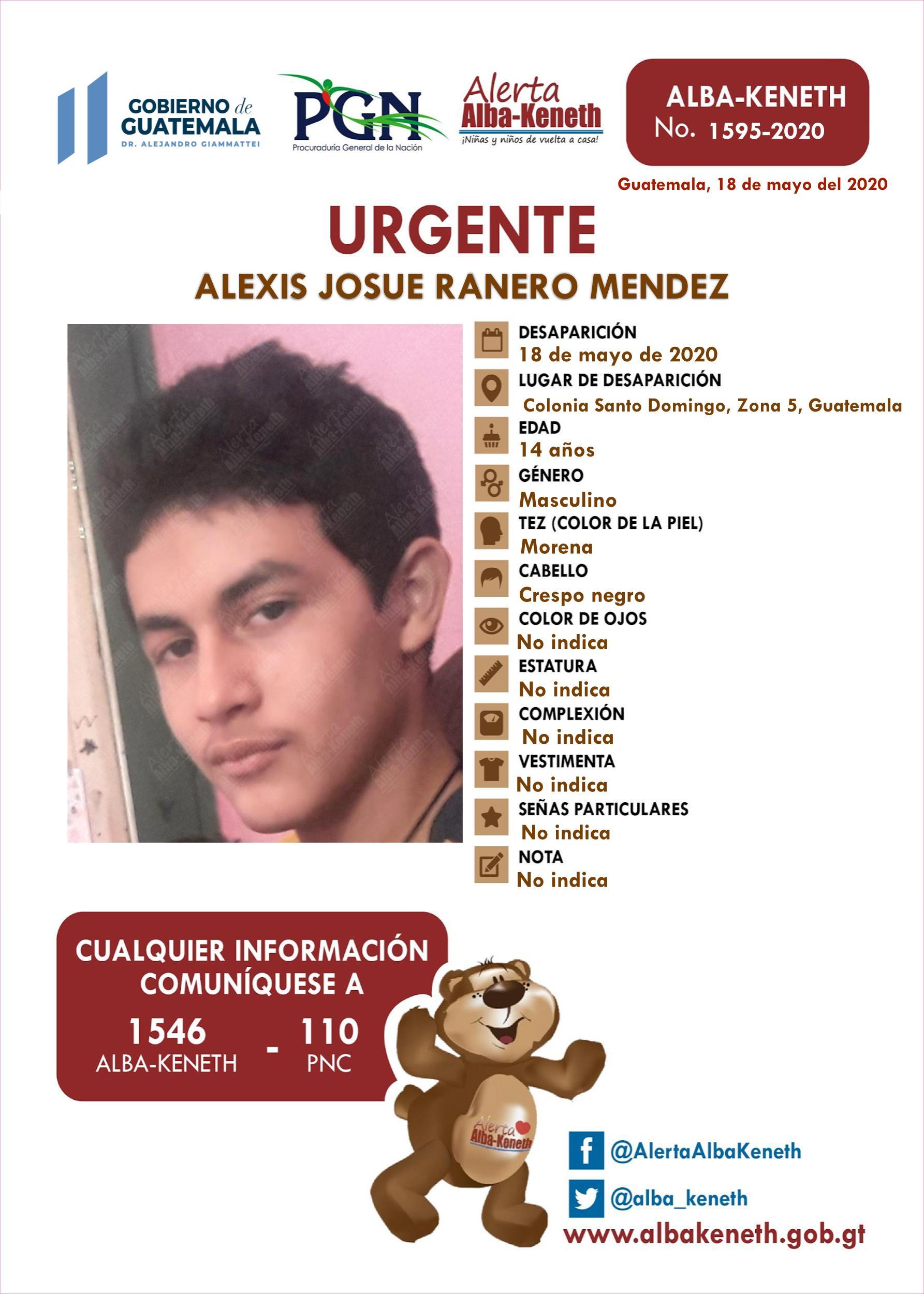 Alexis Josue Ranero Mendez