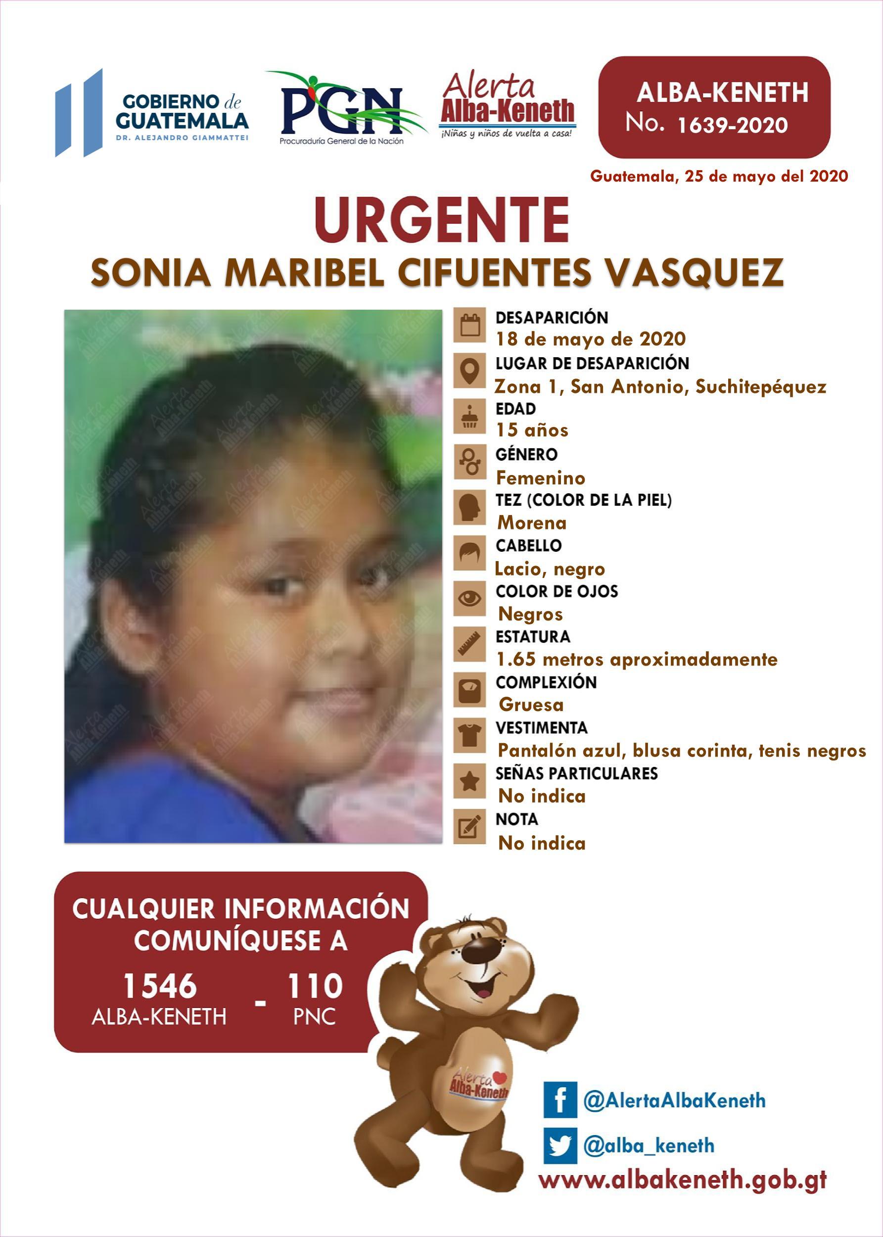 Sonia Maribel Cifuentes Vasquez