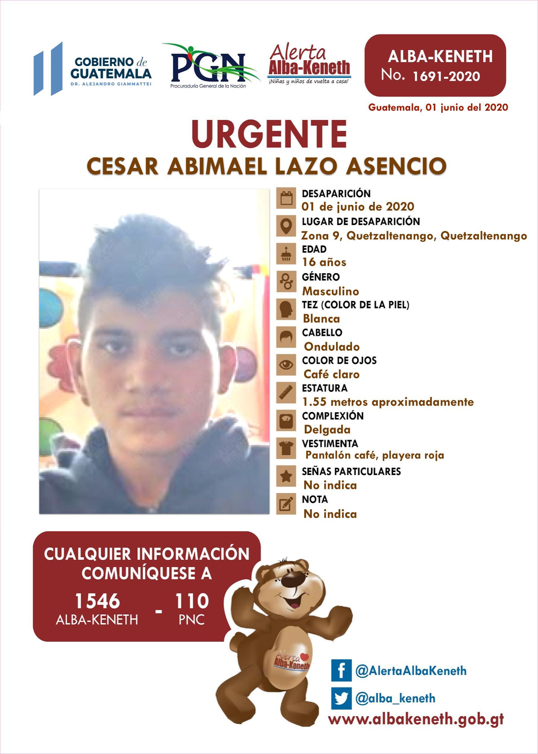 Cesar Abimael Lazo Asencio