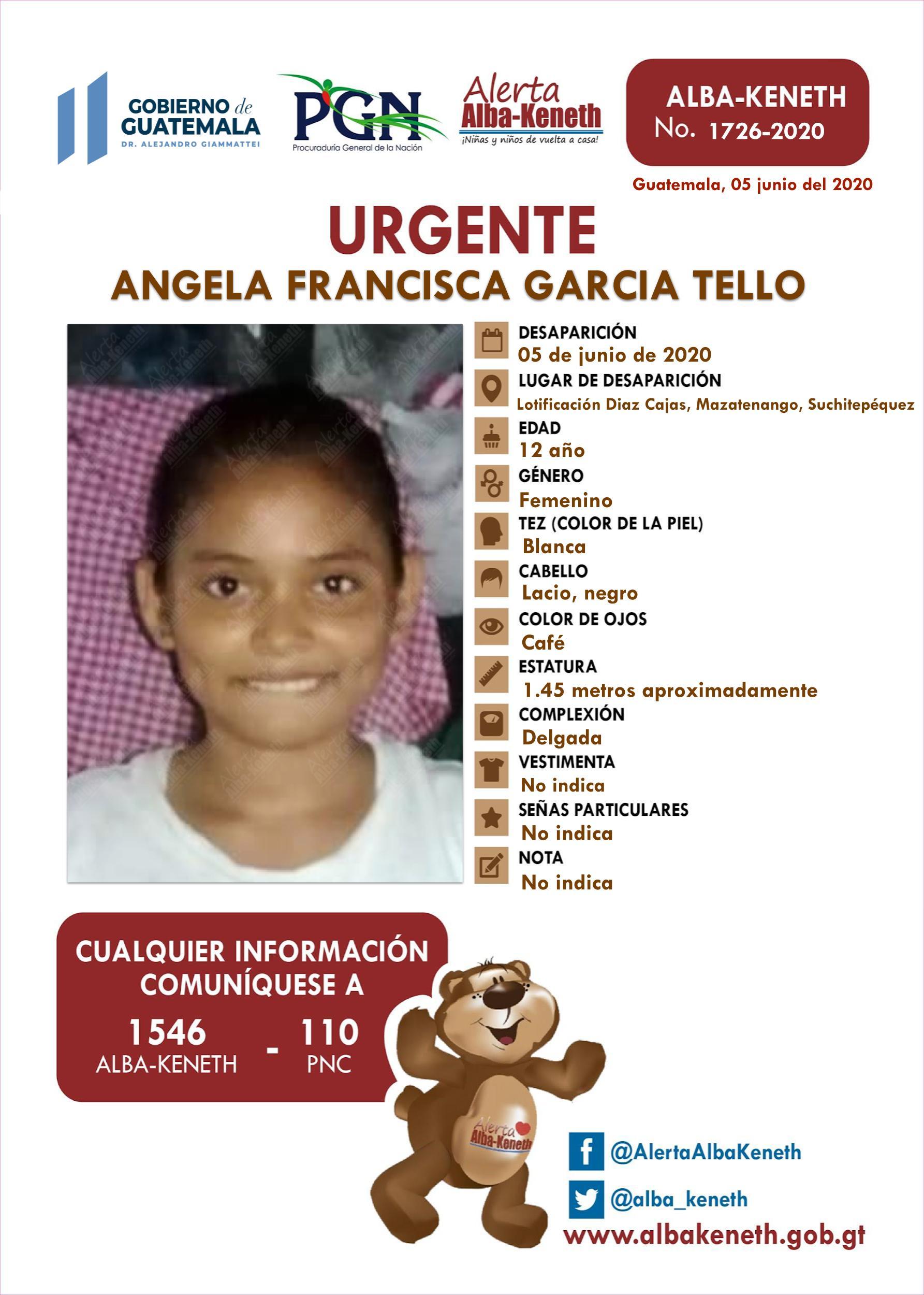 Angela Francisca Garcia Tello