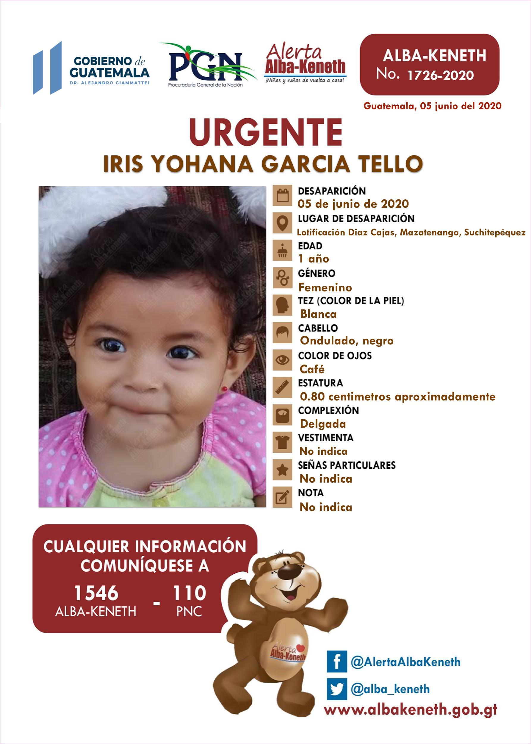 Iris Yohana Garcia Tello