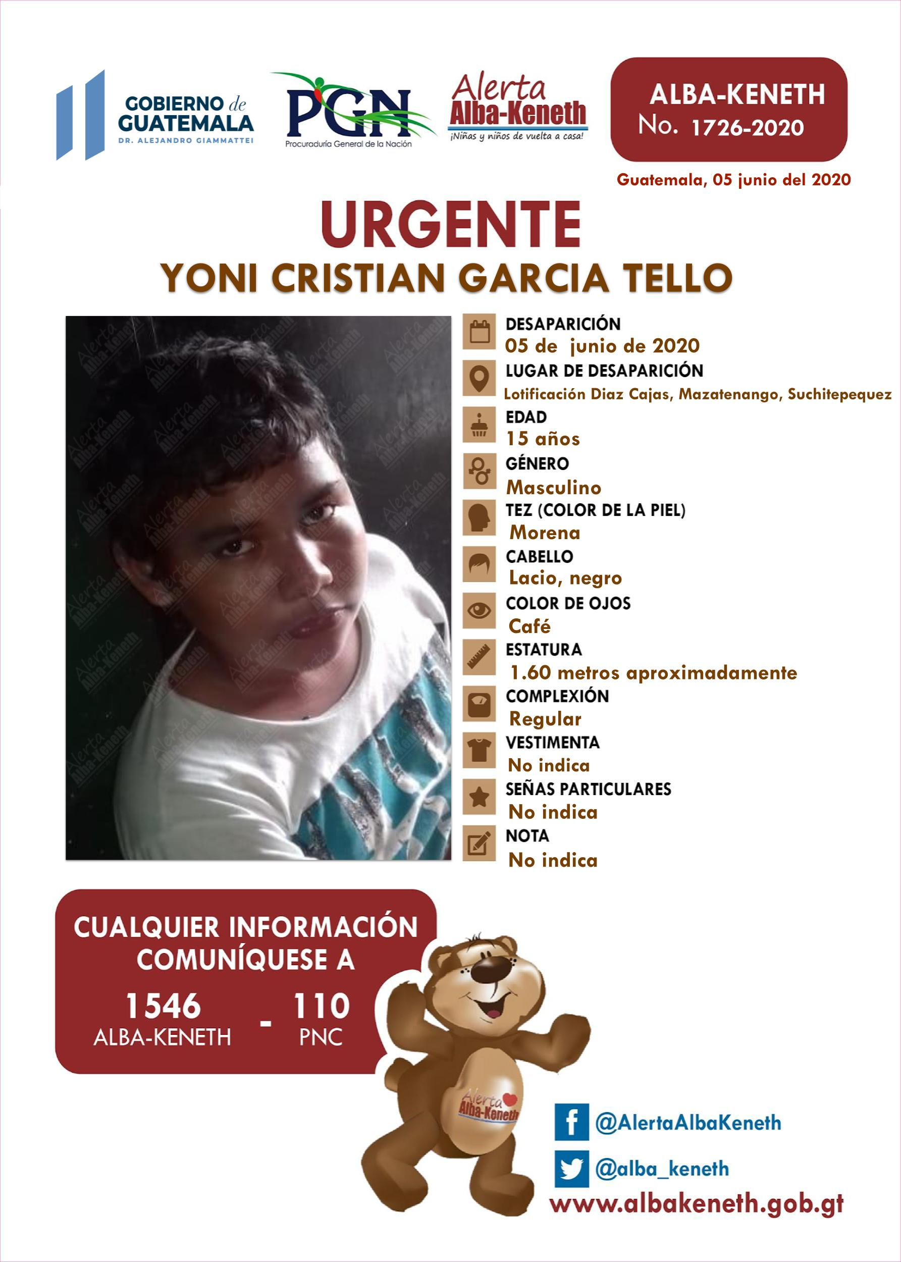 Yoni Cristian Garcia Tello