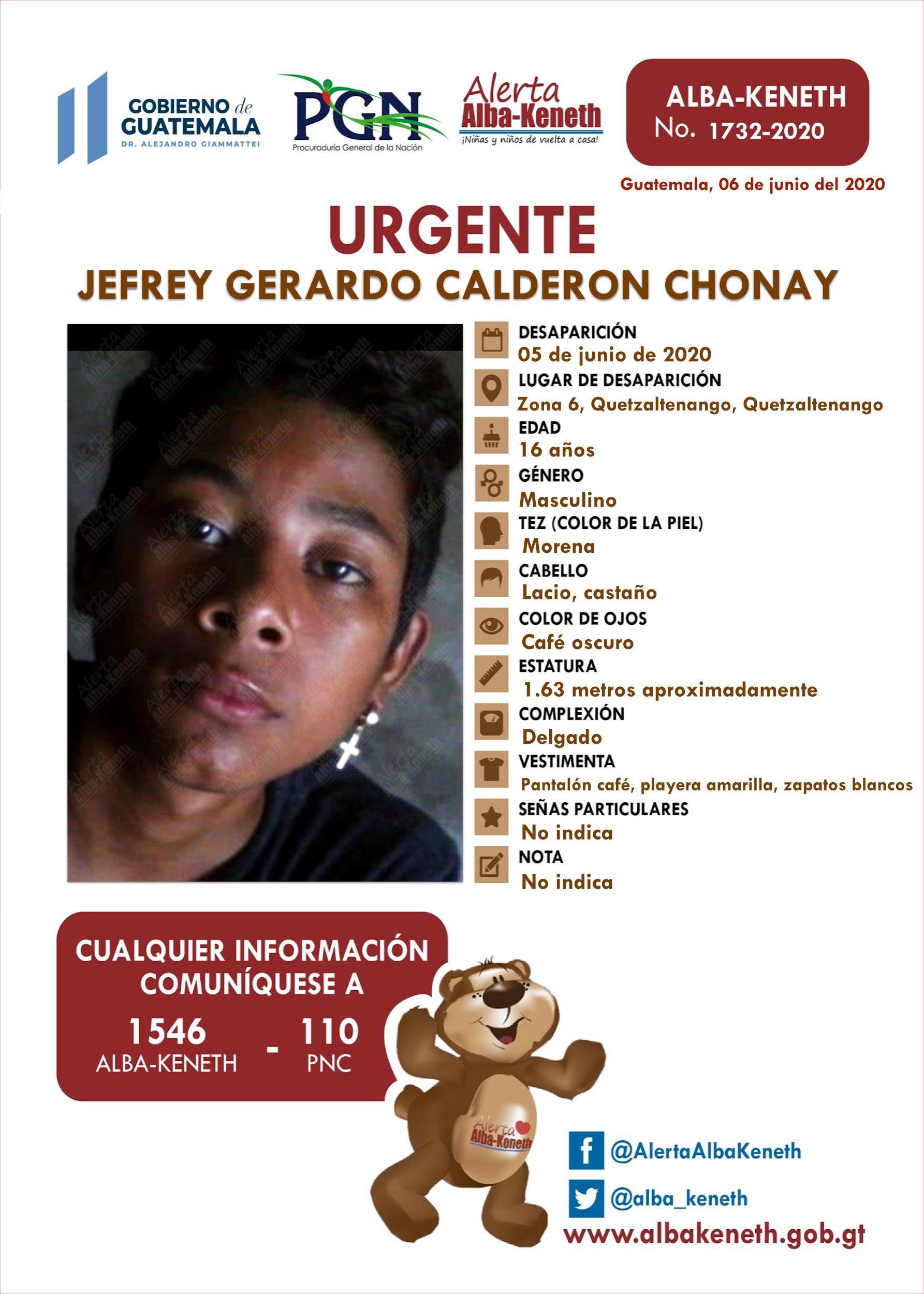 Jefrey Gerardo Calderon Chonay