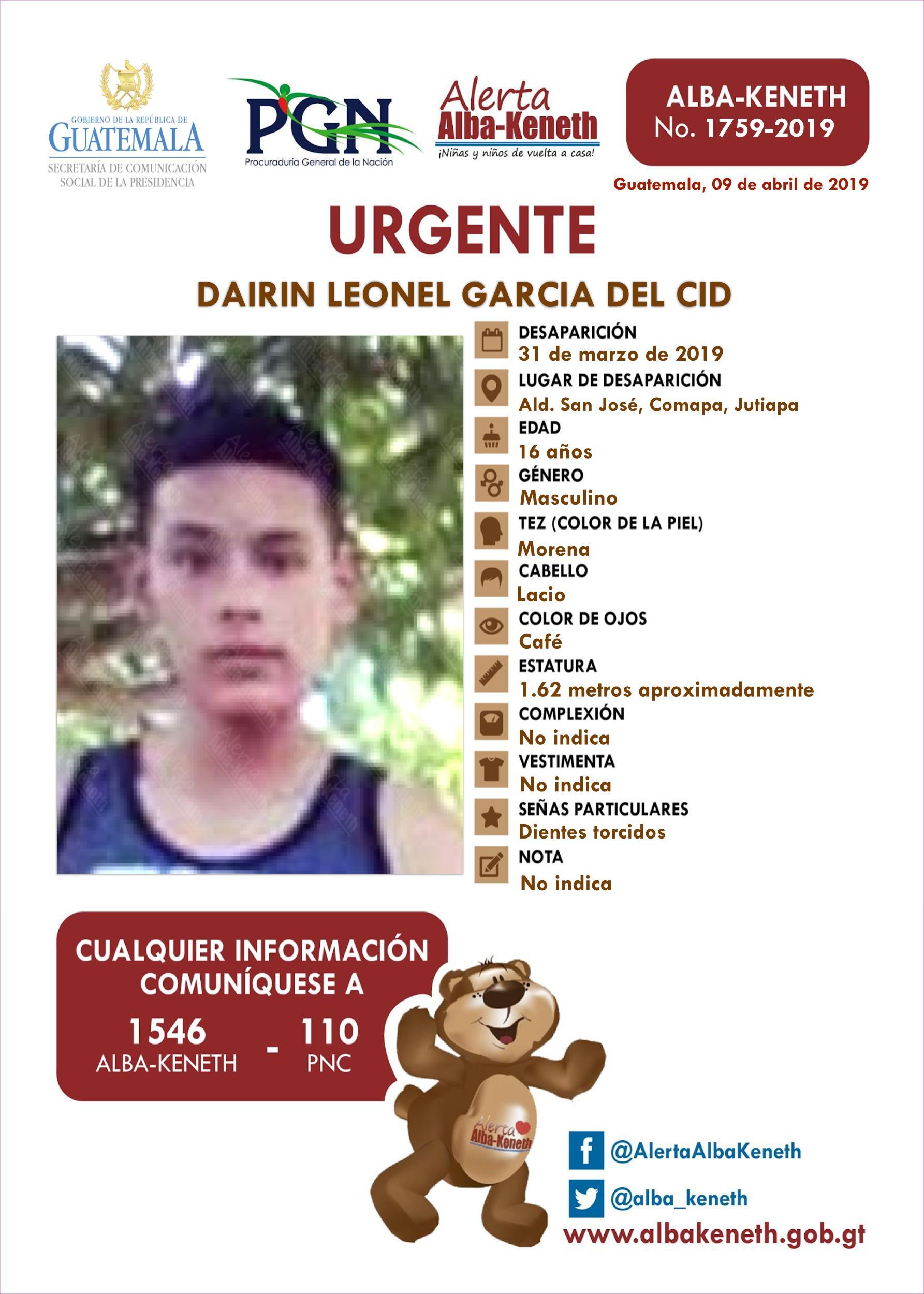 Dairin Leonel Garcia del Cid
