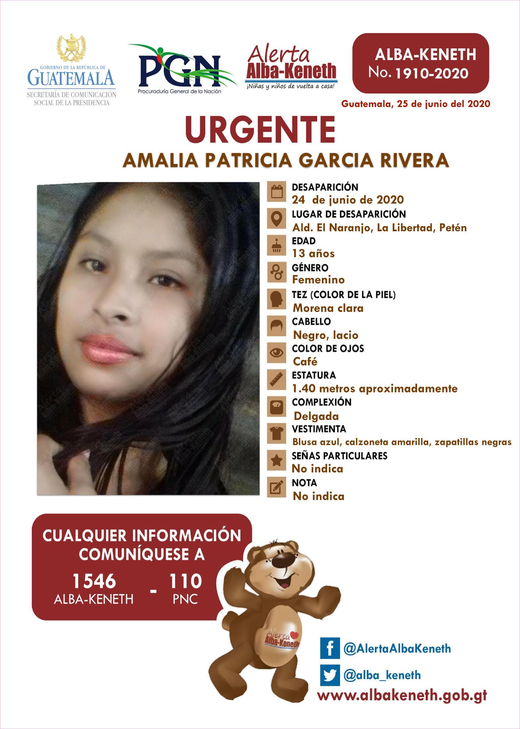 Amalia Patricia Garcia Rivera
