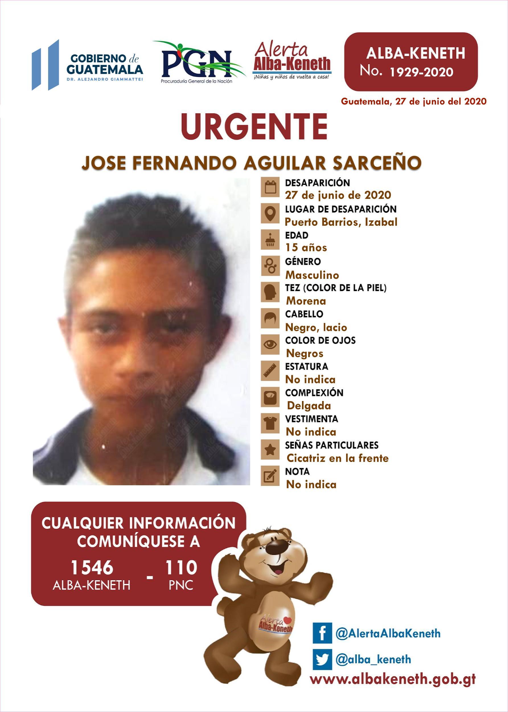 Jose Fernando Aguilar Sarceño