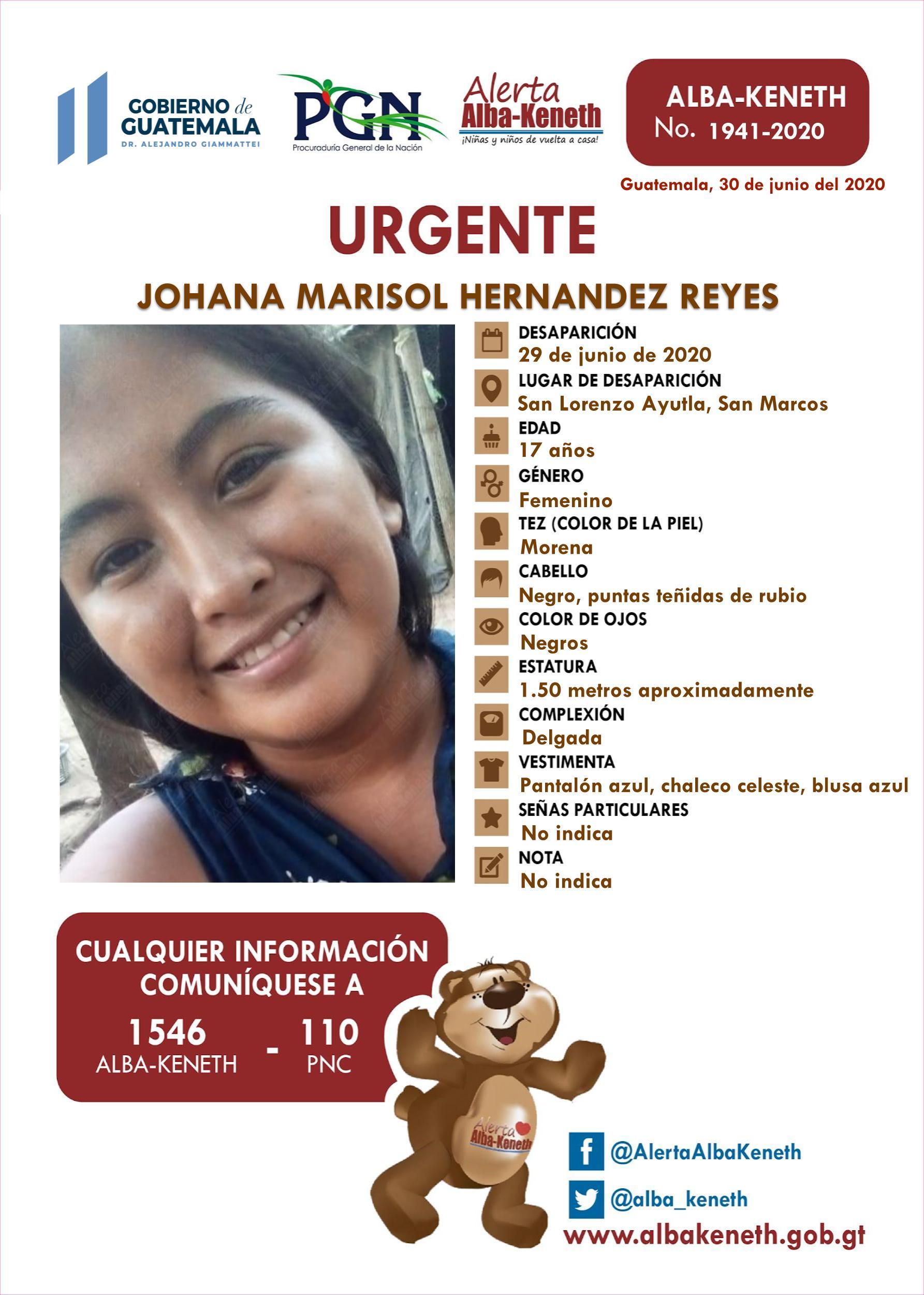 Johana Marisol Hernandez Reyes