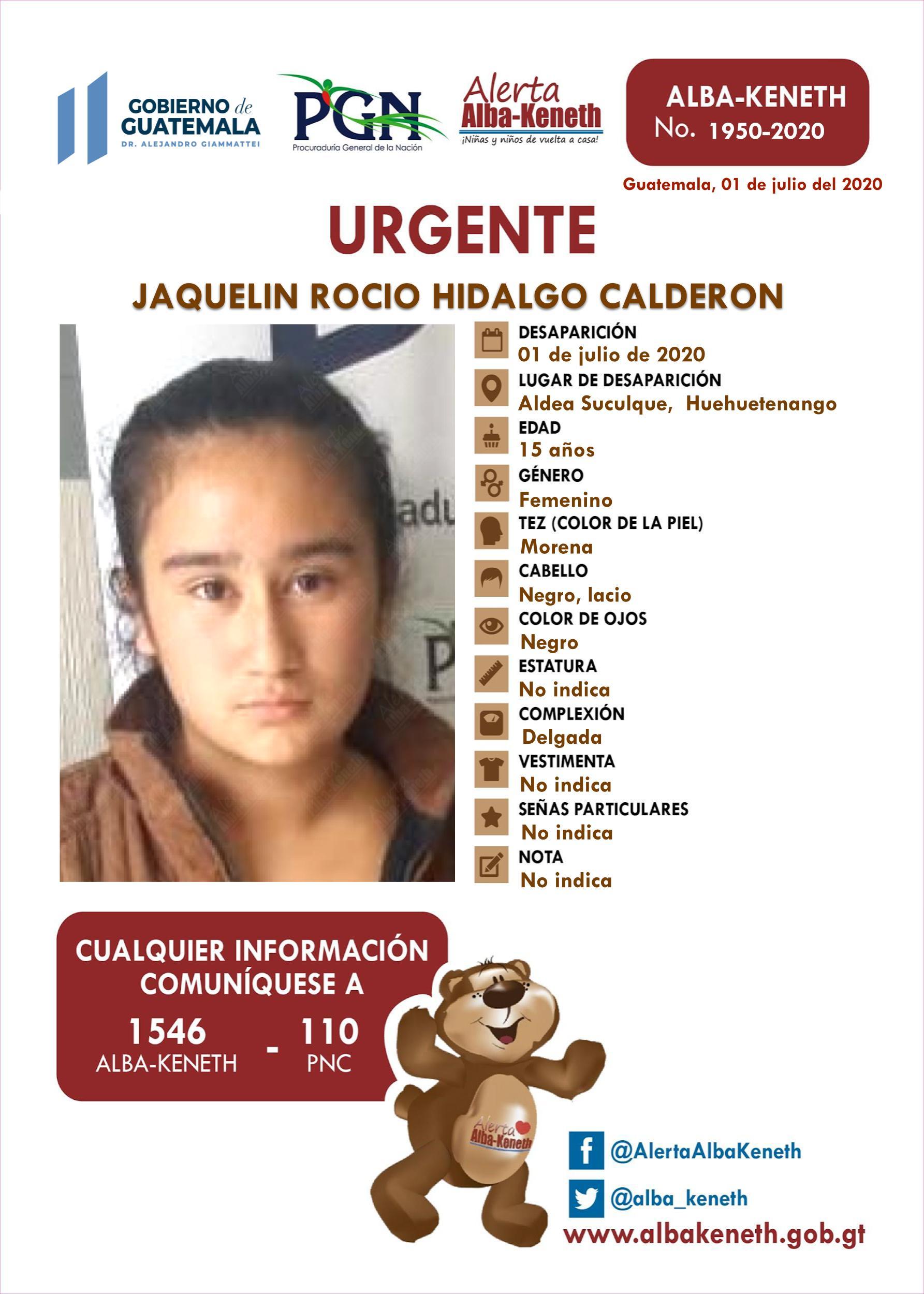 Jaquelin Rocio Hidalgo Calderon