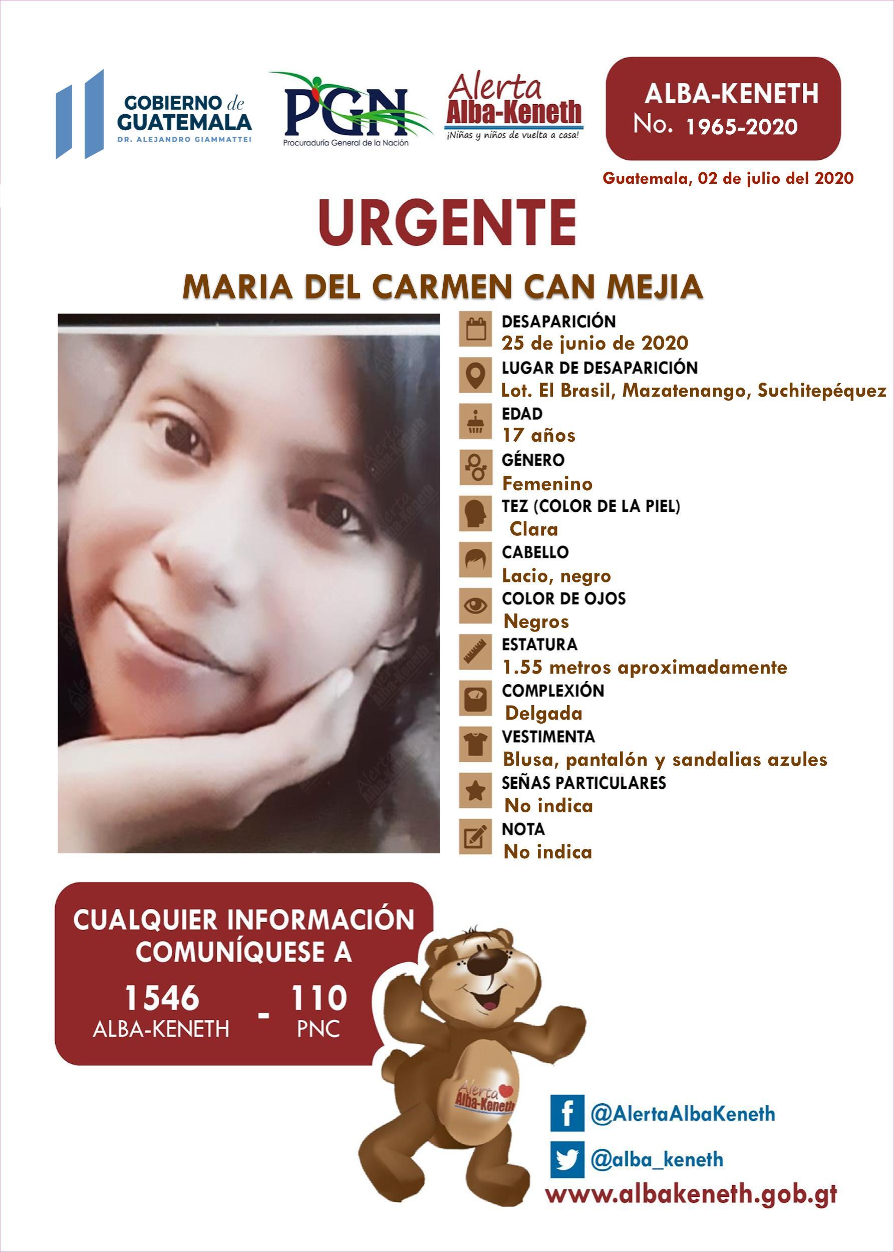 Maria del Carmen Can Mejia