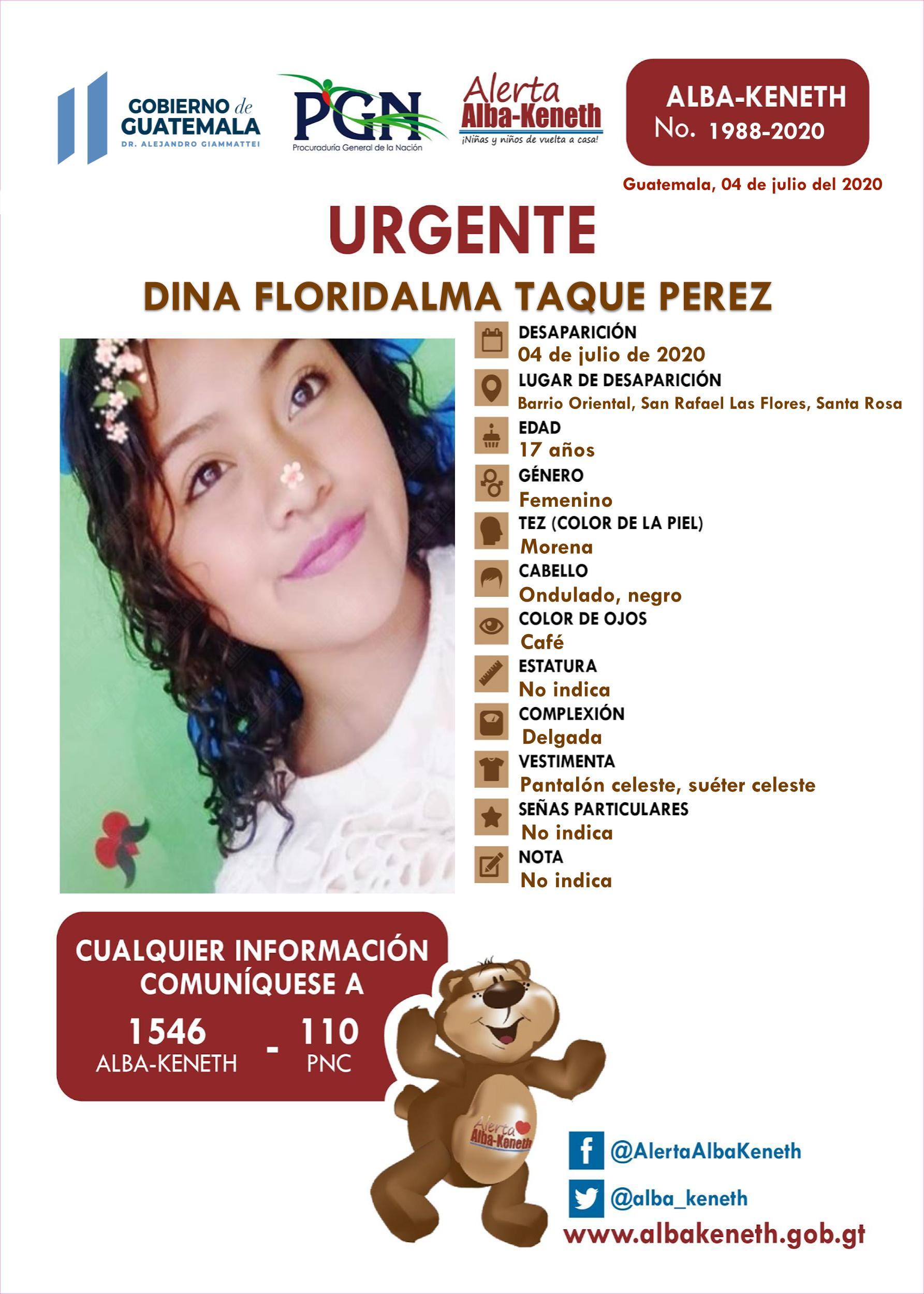 Dina Floridalma Taque Perez