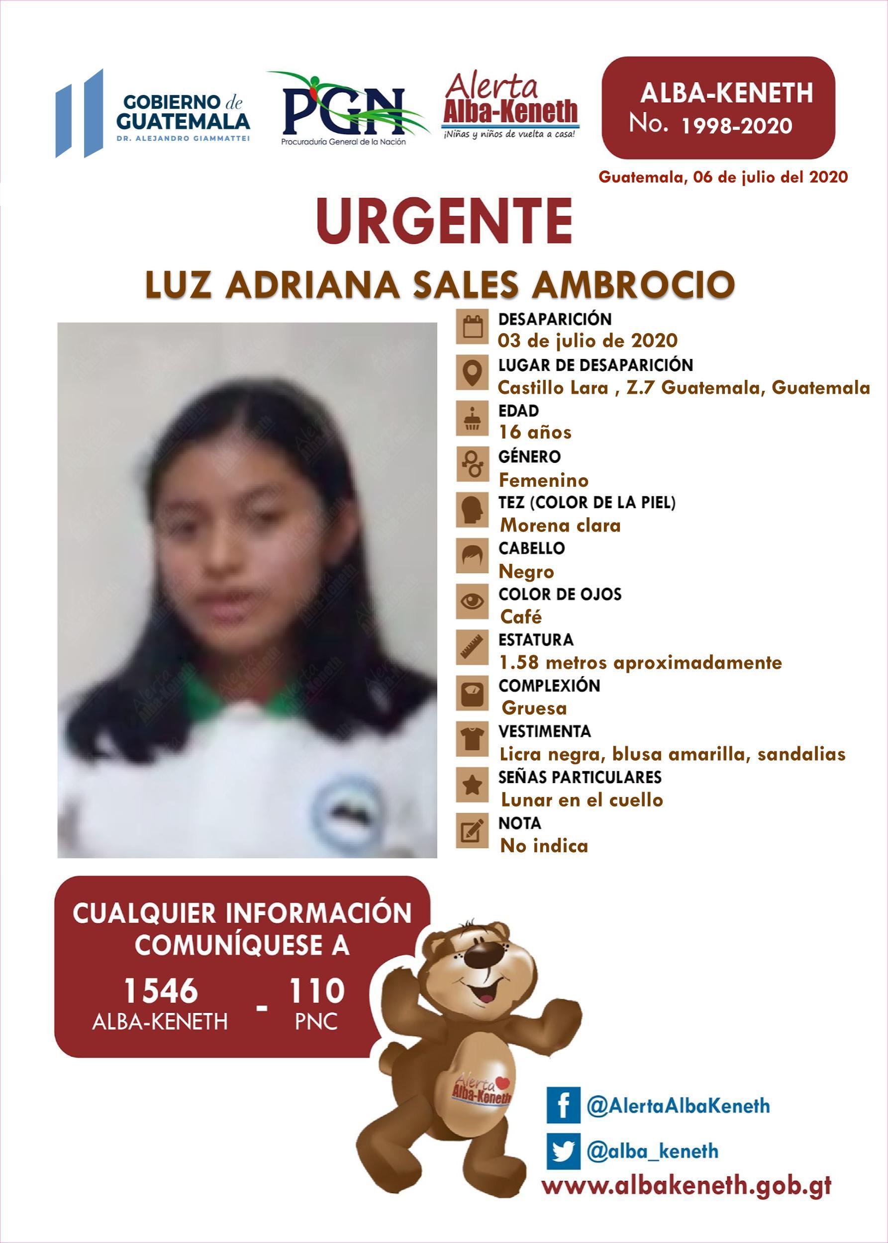 Luz Adriana Sales Ambrocio