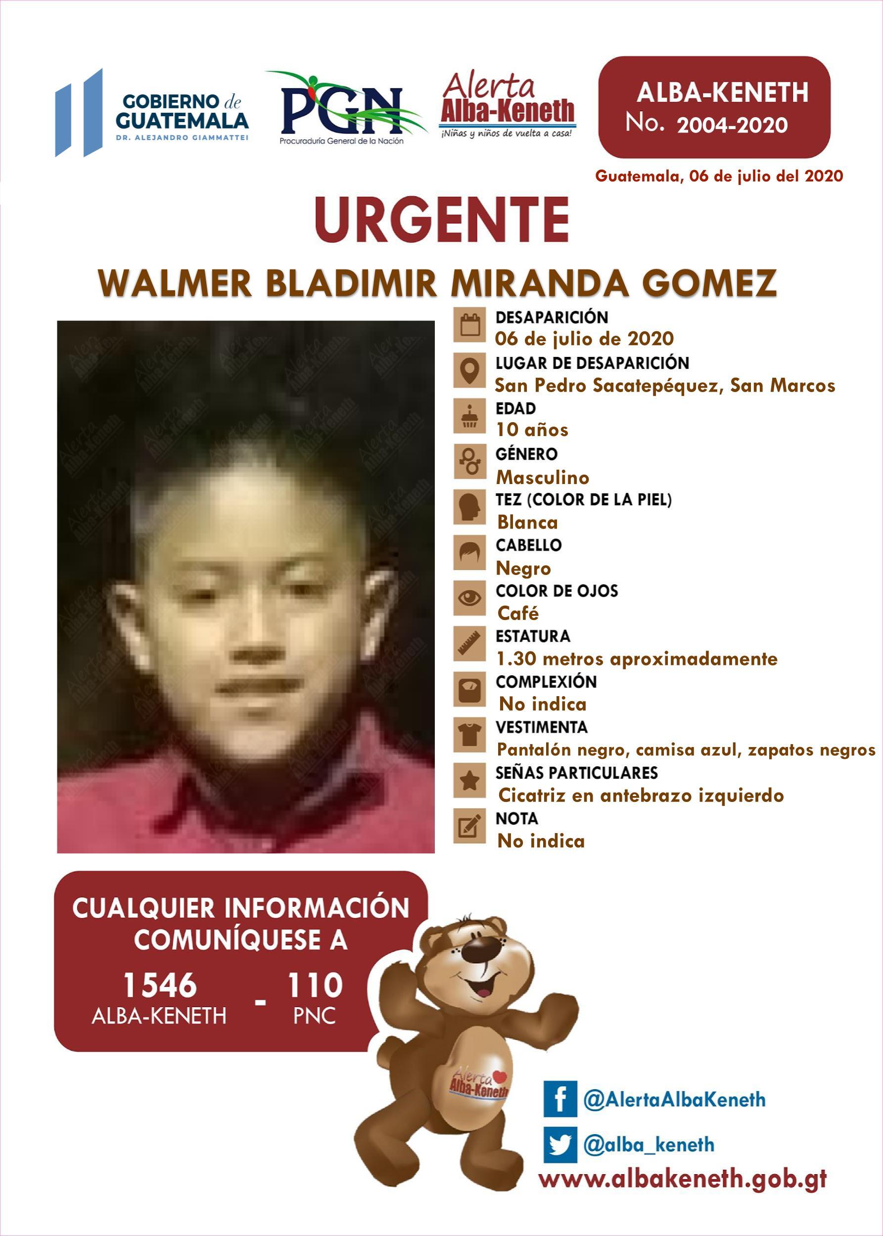 Walmer Bladimir Miranda Gomez