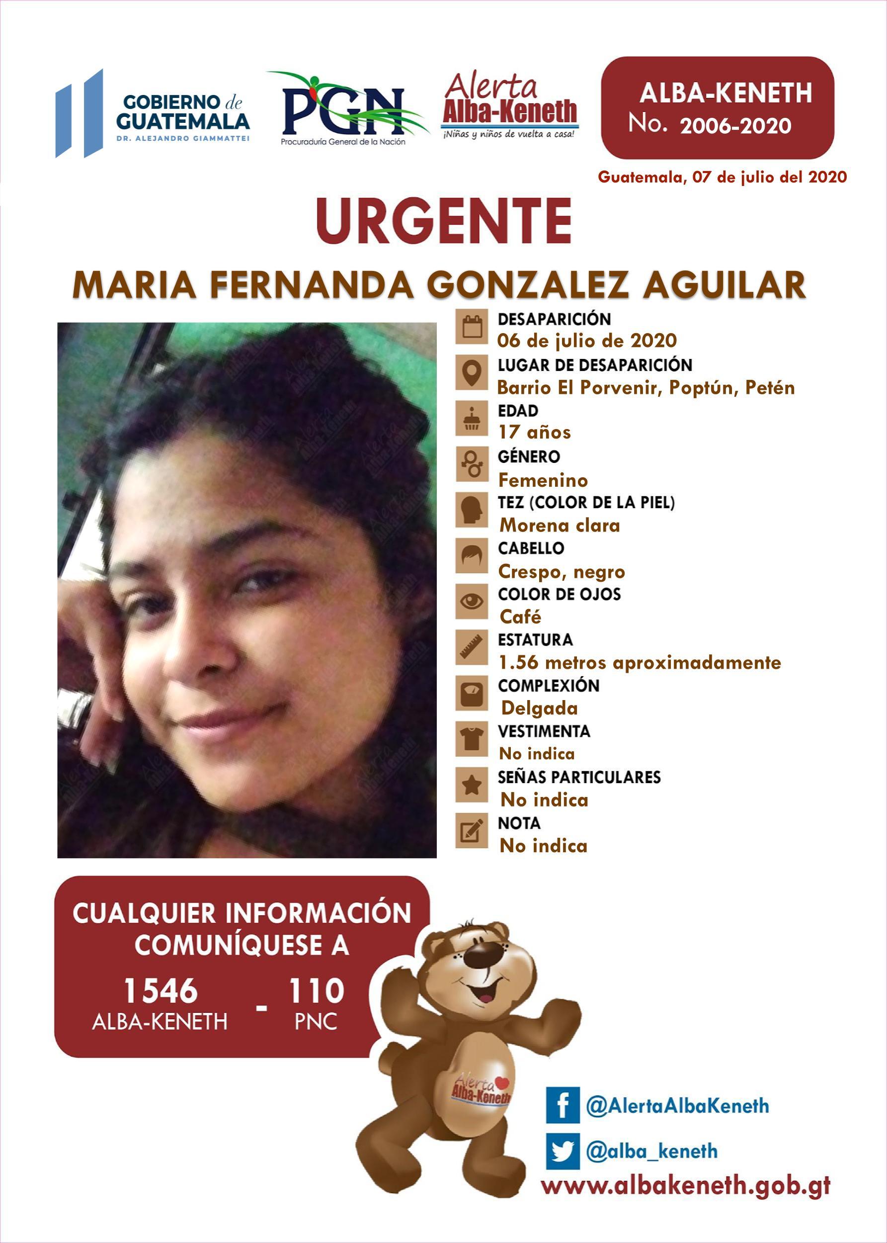 Maria Fernanda Gonzalez Aguilar