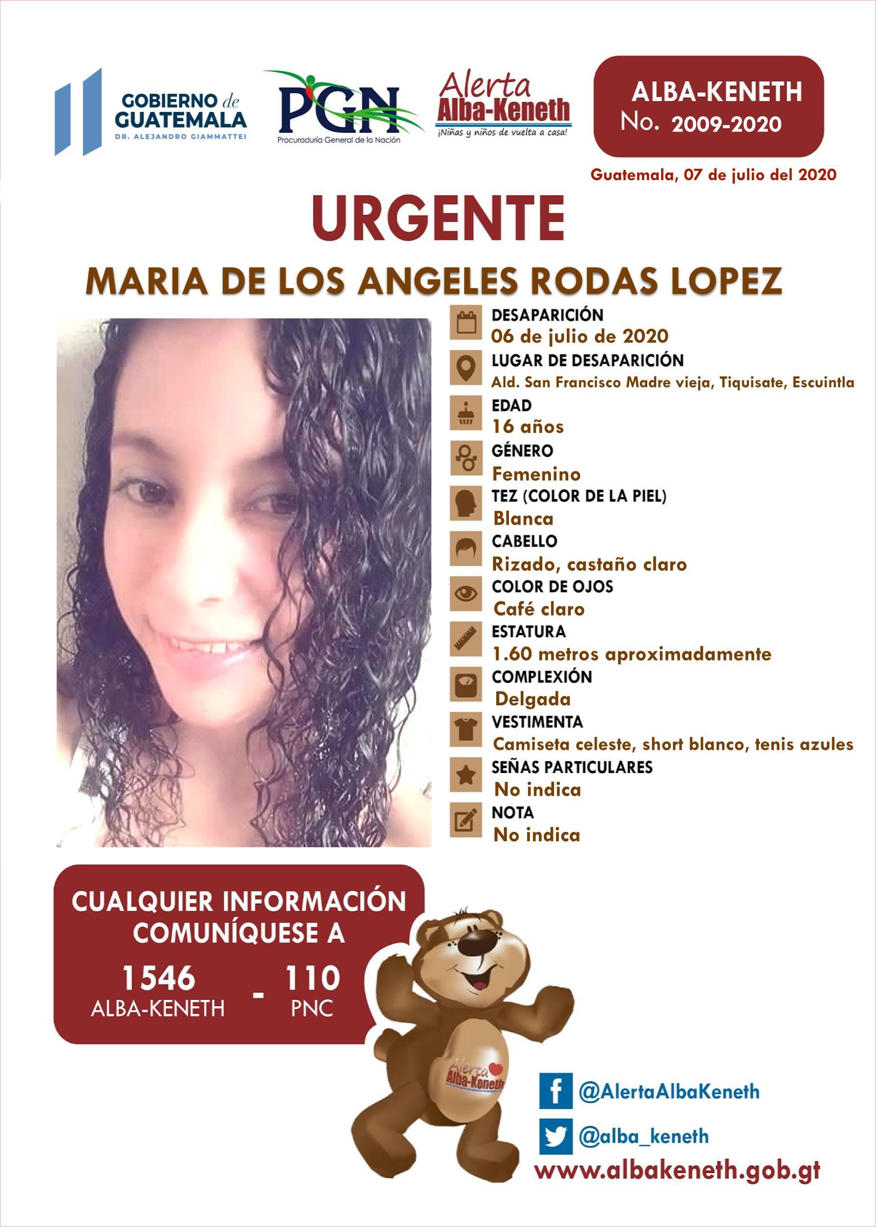 Maria de los Angeles Rodas Lopez