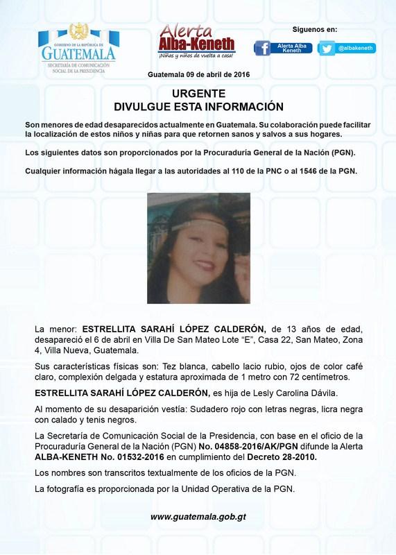 Estrellita Sarahi Lopez Calderon