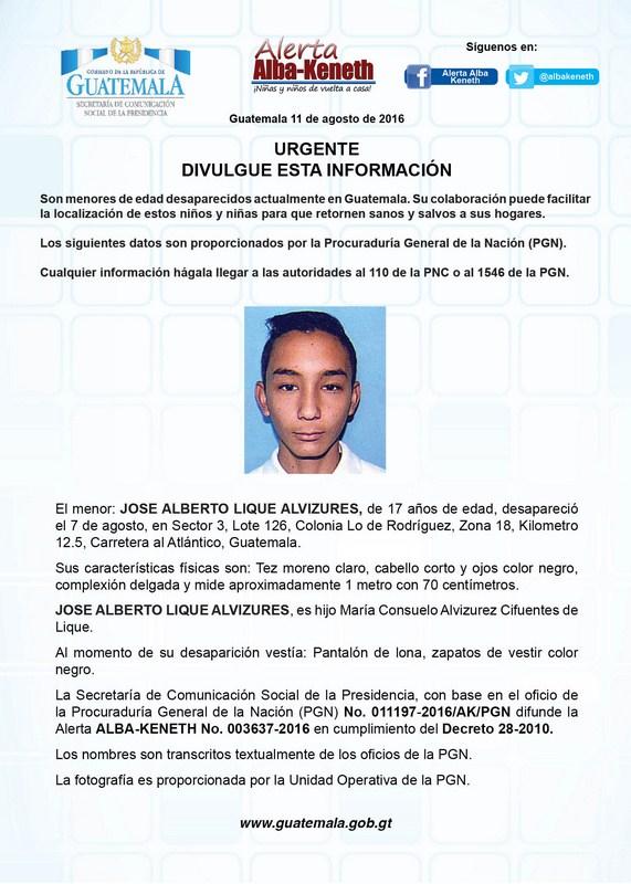 Jose Alberto Lique Alvizures