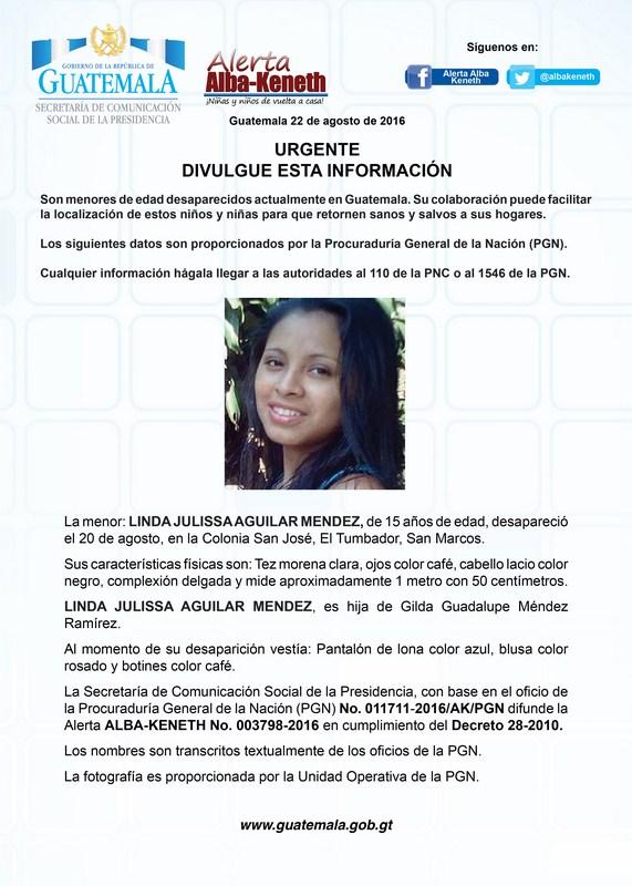 Linda Julissa Aguilar Mendez