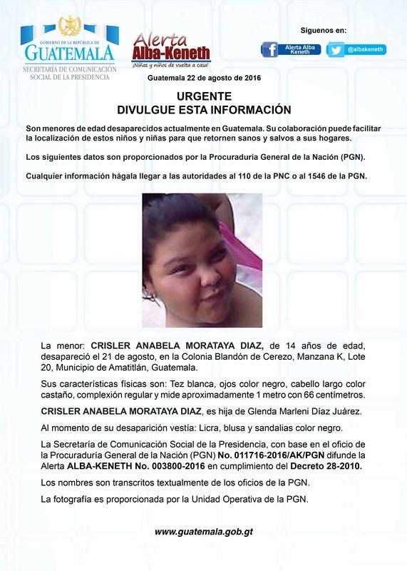 Crisler Anabela Monataya Diaz