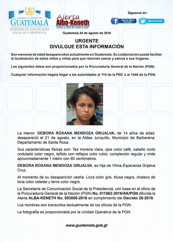 Debora Roxana Mendoza Grijalva