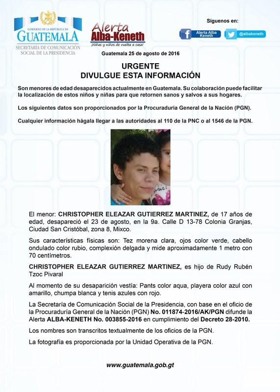 Chirtopher Eleazar Gutierrez Martinez