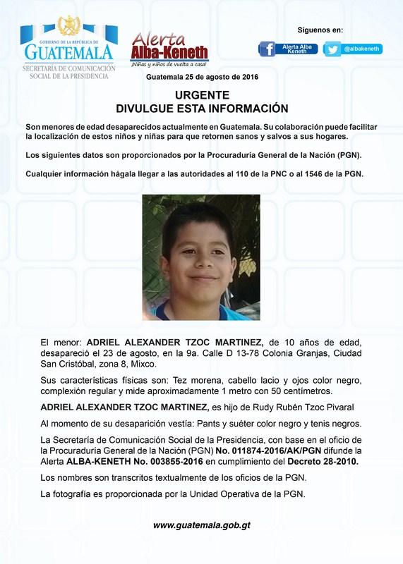Adriel Alexander Tzoc Martinez