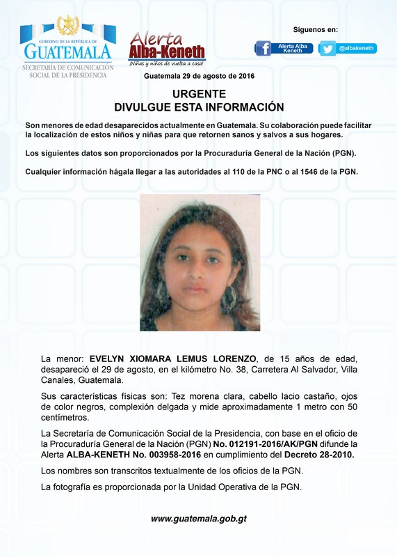 Evelyn Xiomara Lemus Lorenzo