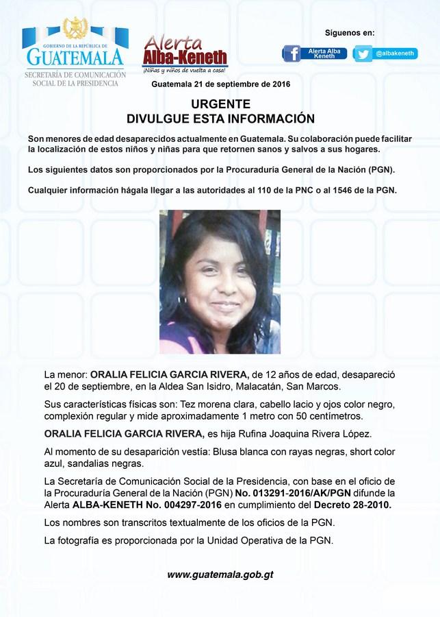 Oralia Felicia Garcia Rivera