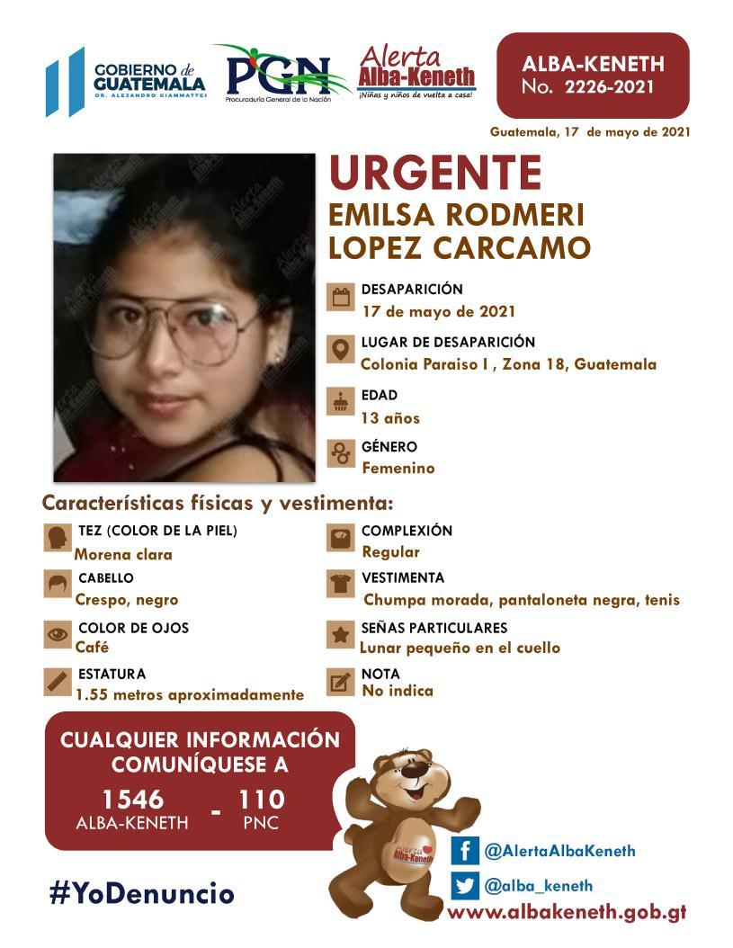 Emilse Rodmeri Lopez Carcamo