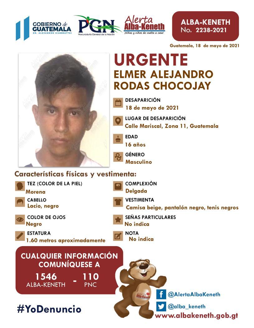 Elmer Alejandro Rodas Chocojay