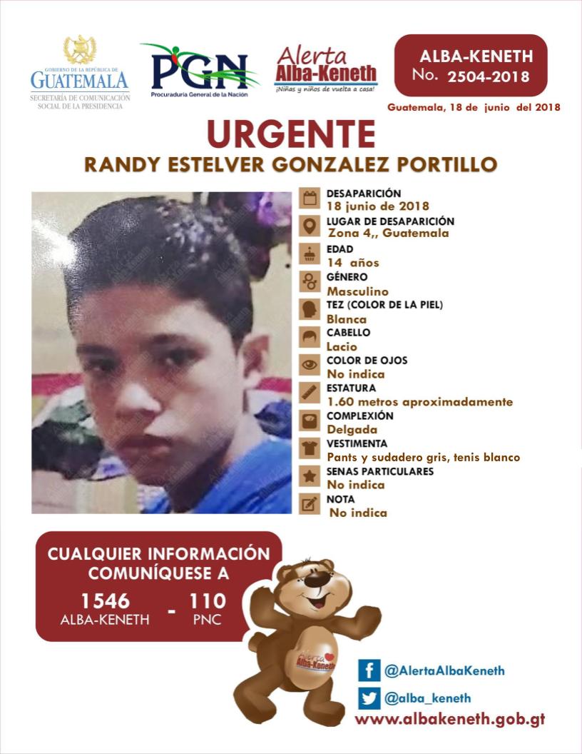 Randy Estelver Gonzalez Portillo