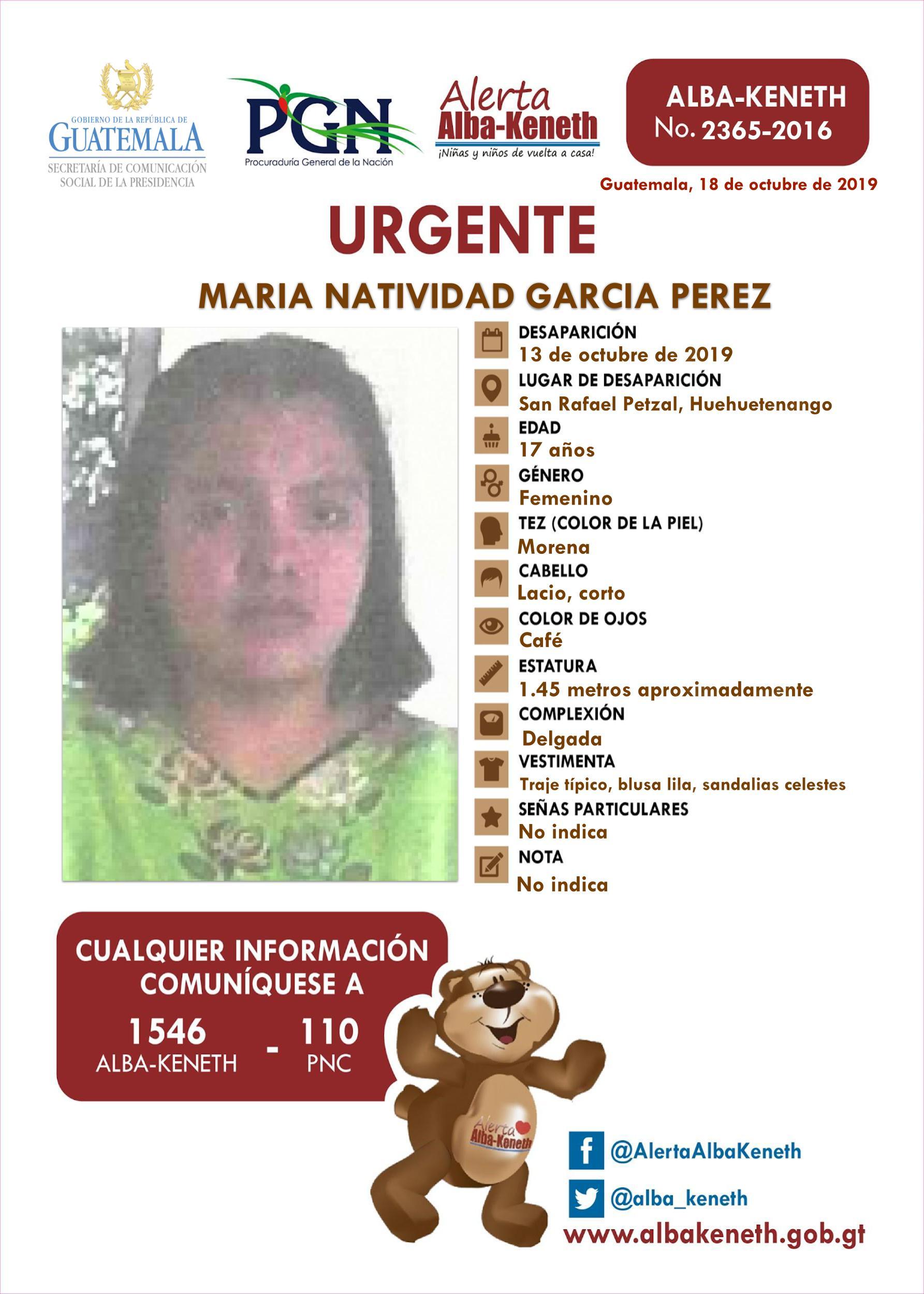 Maria Natividad Garcia Perez