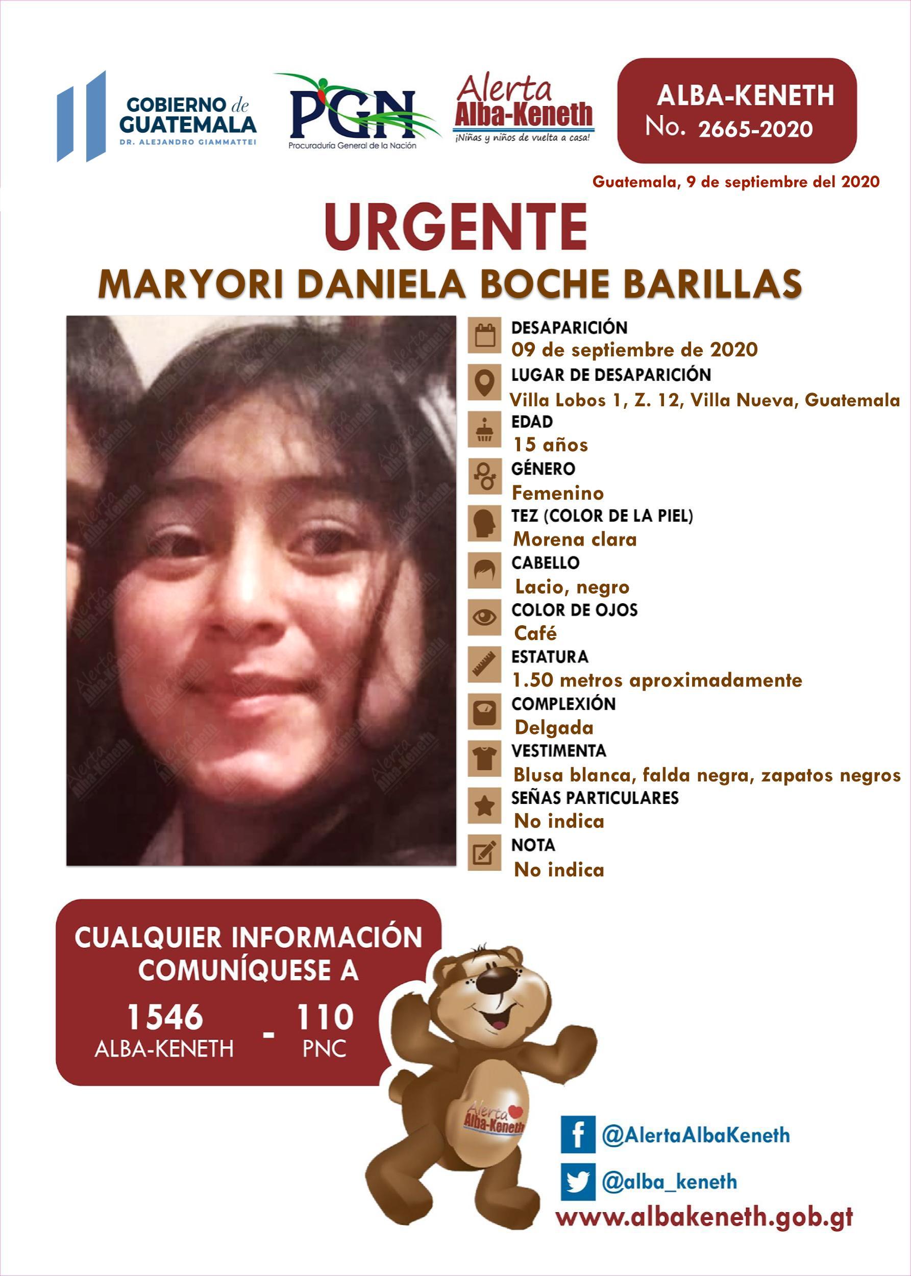 Maryori Daniela Boche Barillas
