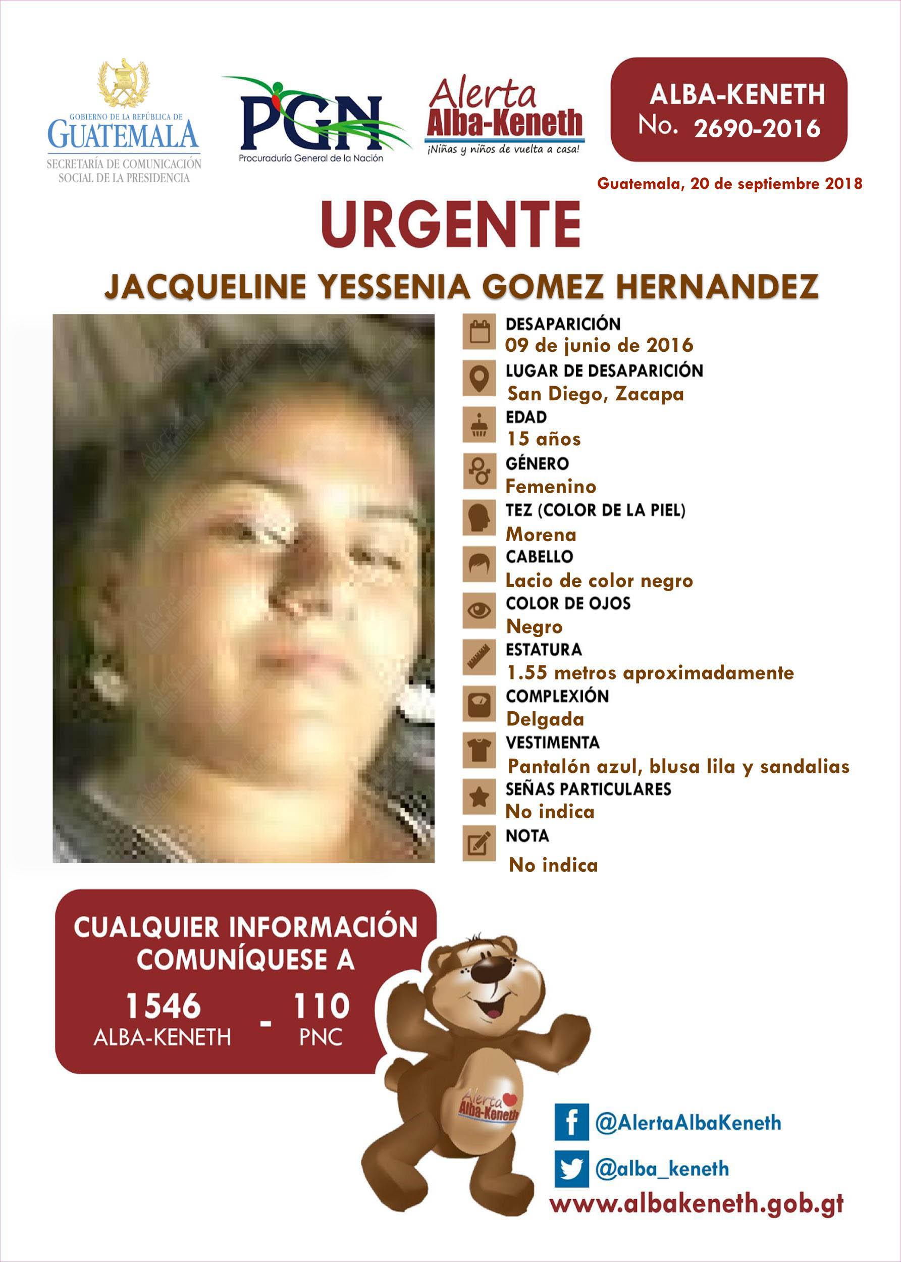 Jacqueline Yessenia Gomez Hernandez