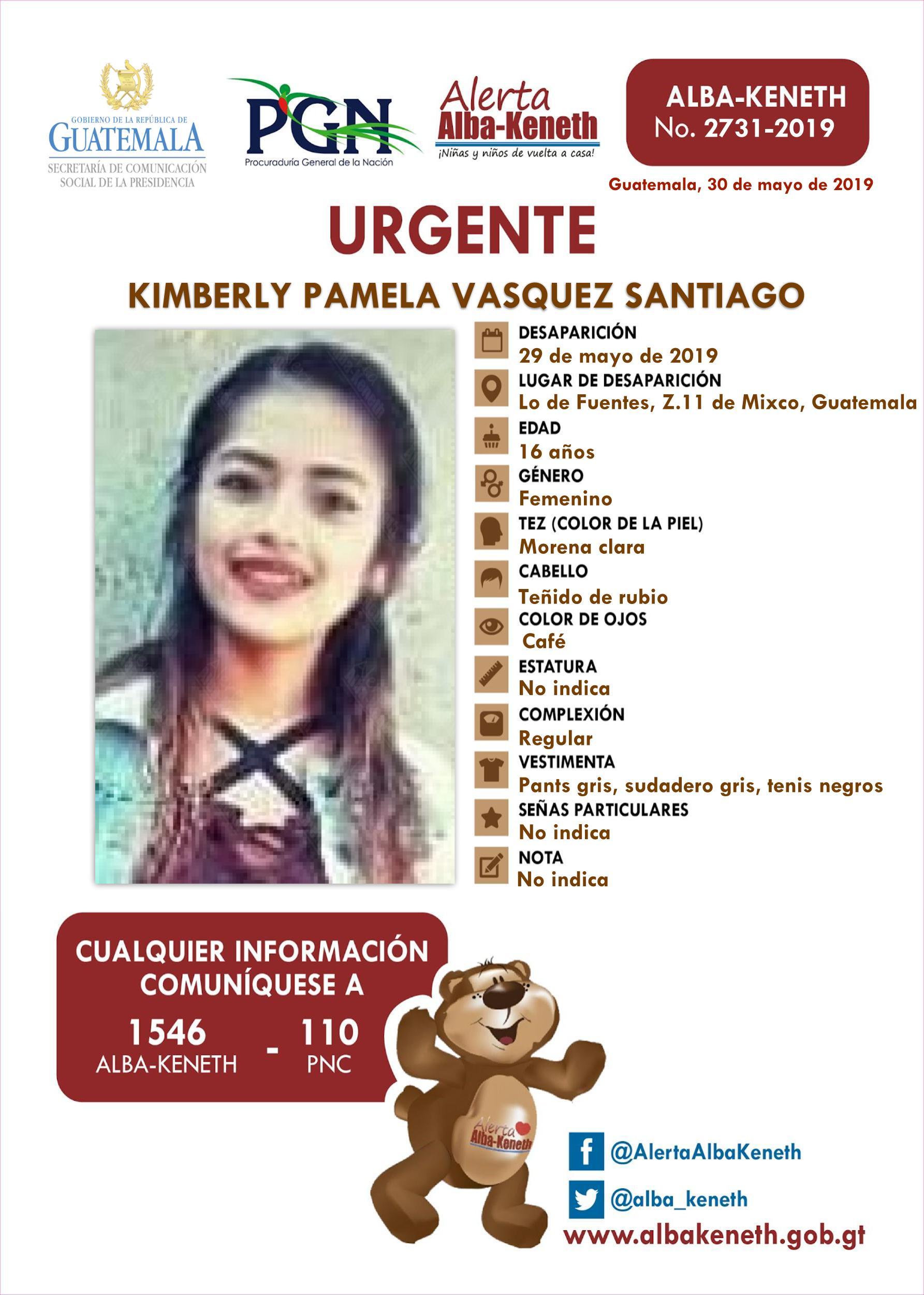 Kimberly Pamela Vasquez Santiago