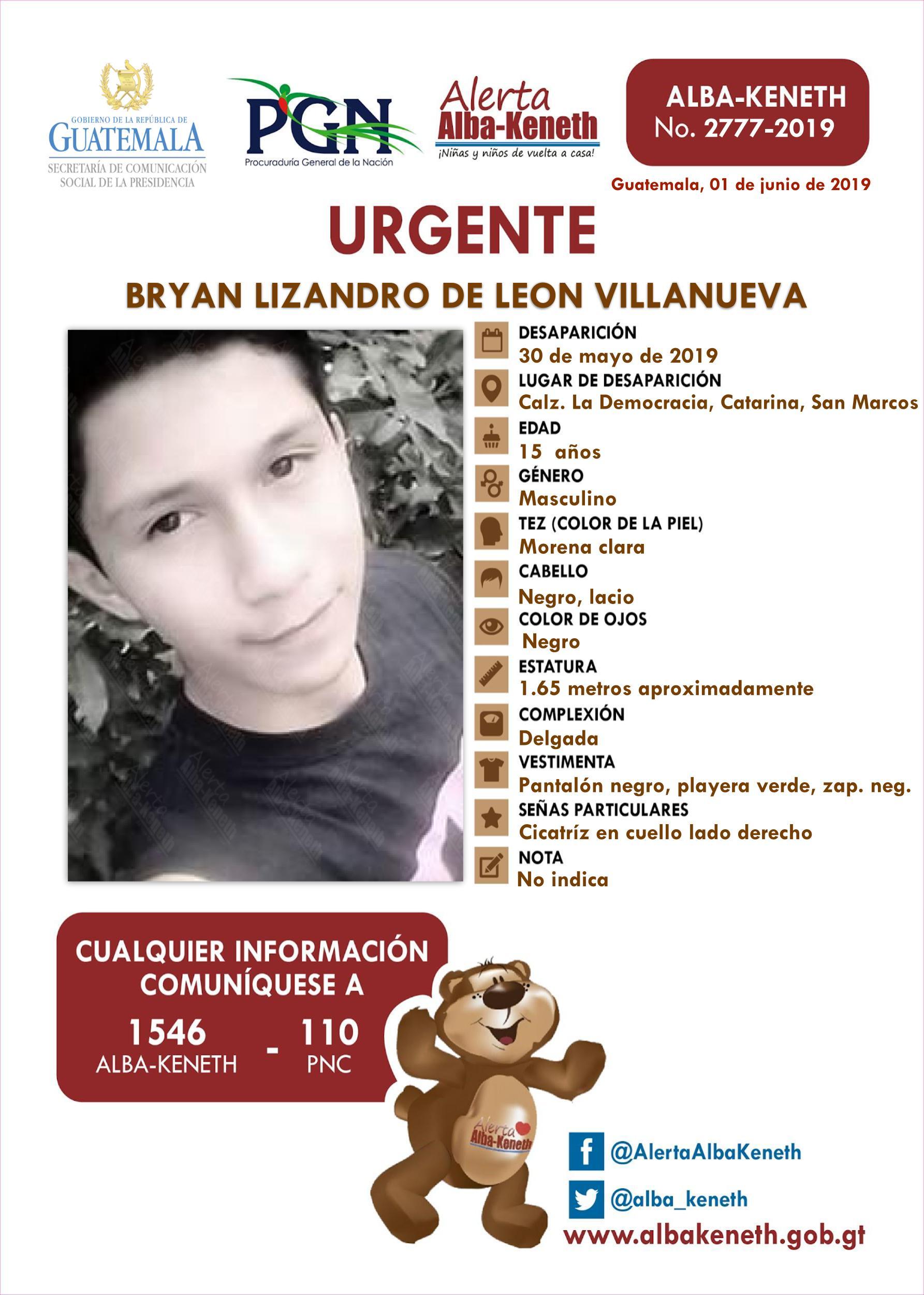 Bryan Lizandro de Leon Villanueva