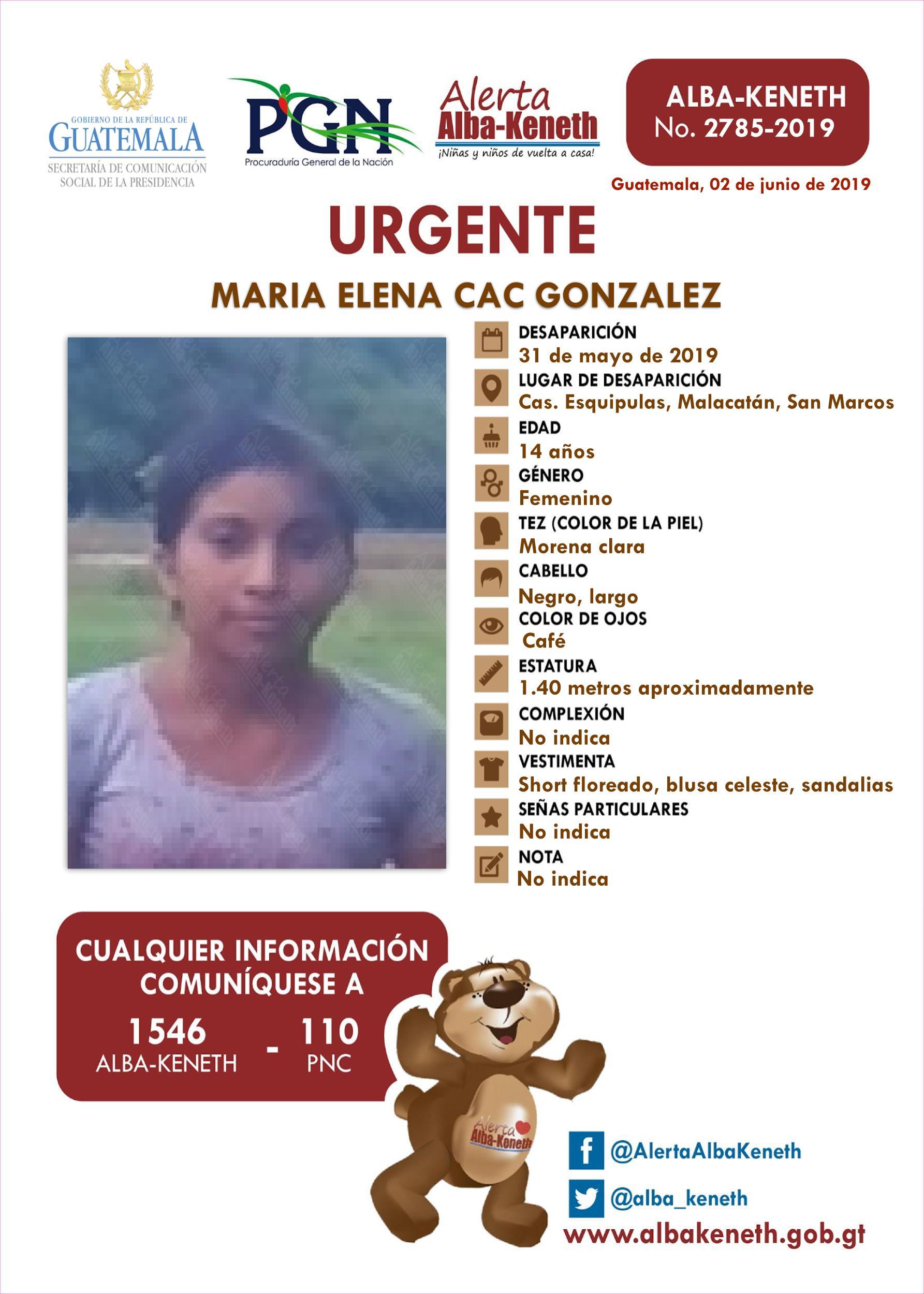Maria Elena Cac Gonzalez