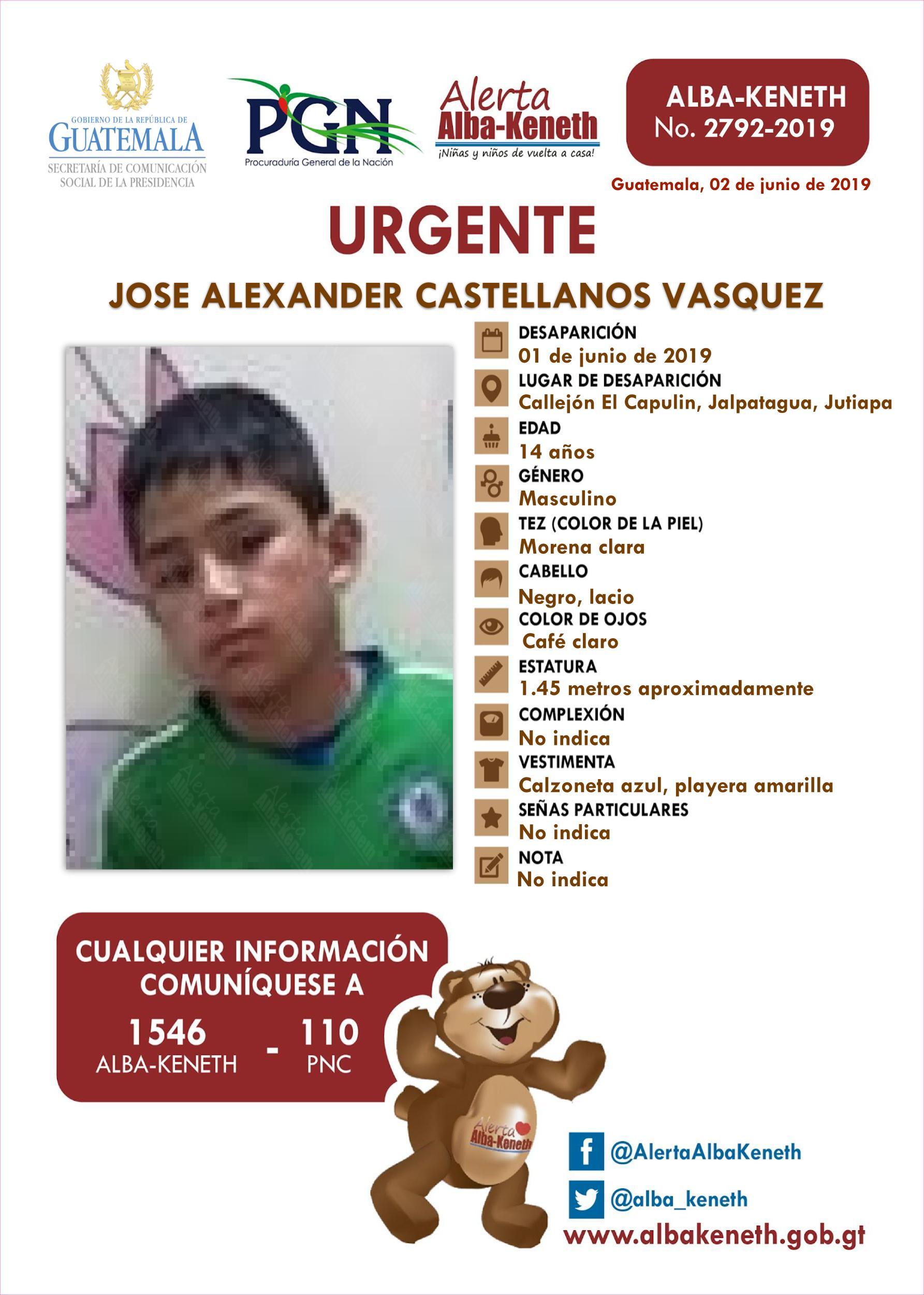 Jose Alexander Castellanos Vasquez