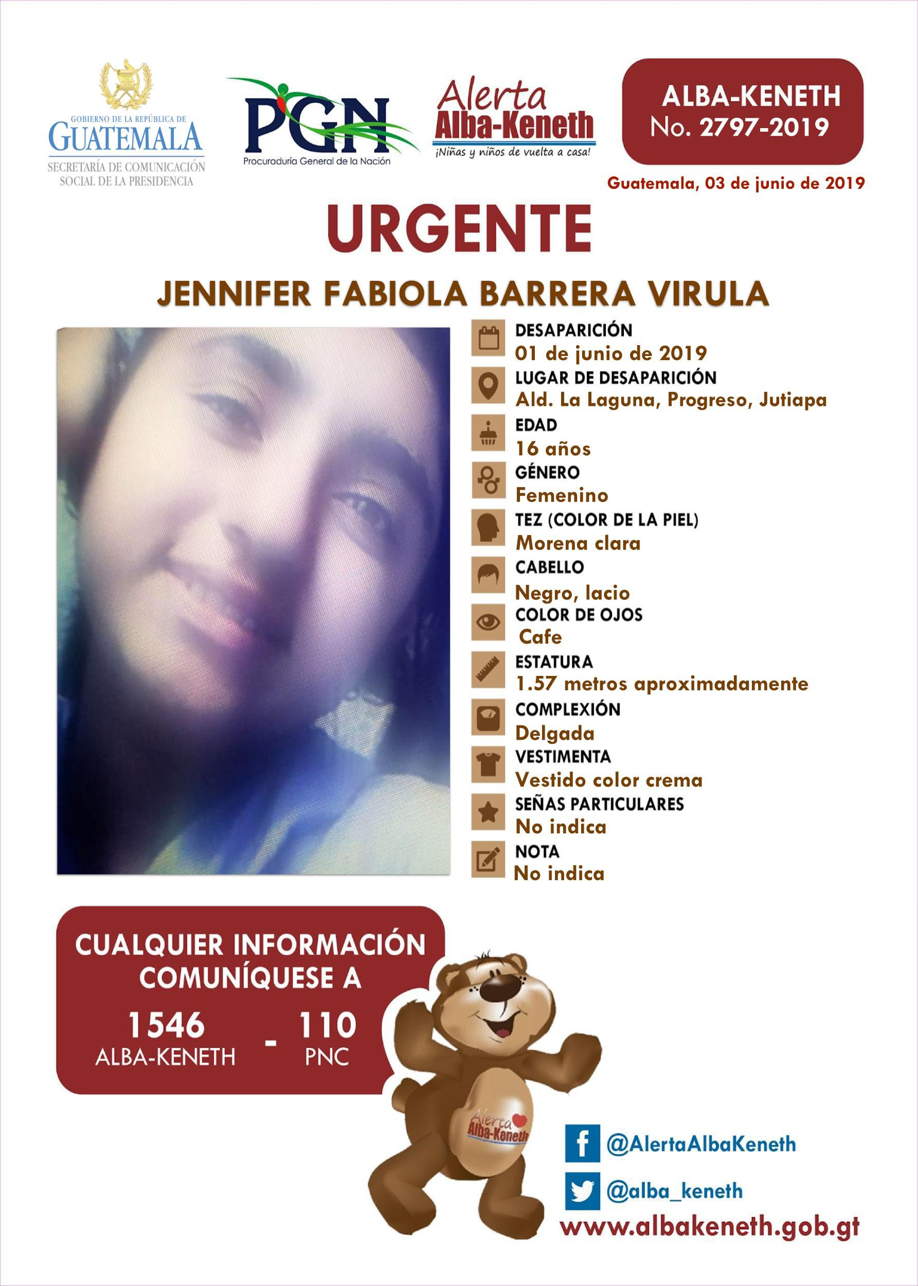 Jennifer Fabiola Barrera Virula