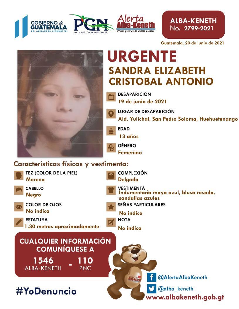 Sandra Elizabeth Cristobal Antonio