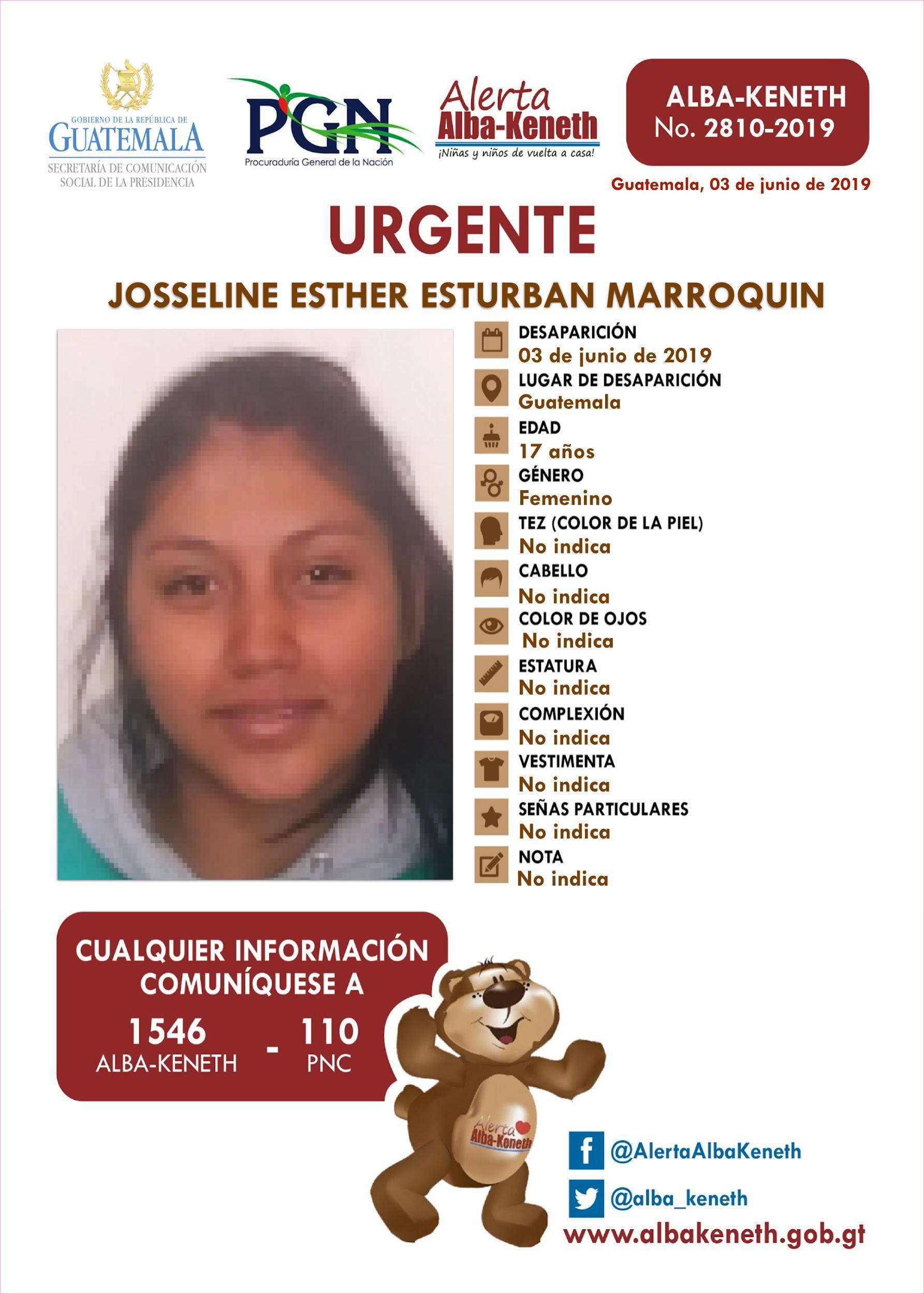 Josseline Esther Esturban Marroquin