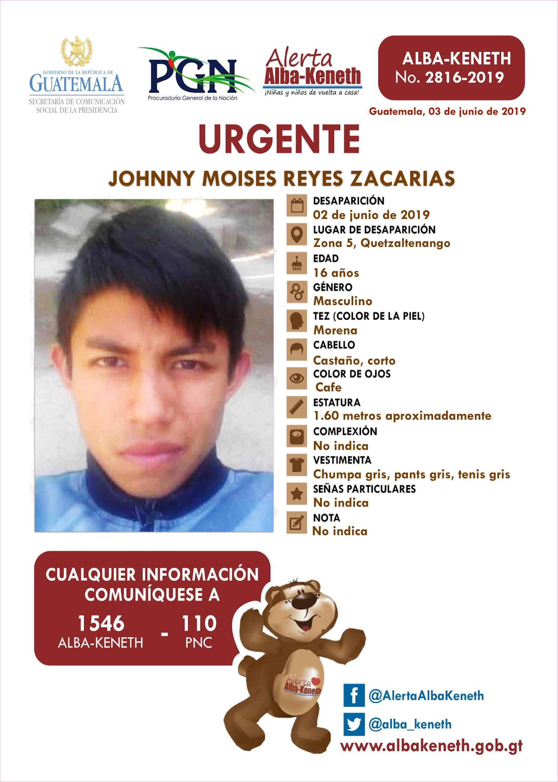 Johnny Moises Reyes Zacarias