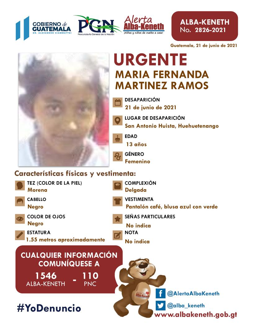 Maria Fernanda Martinez Ramos