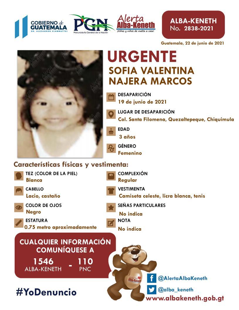Sofia Valentina Najera Marcos
