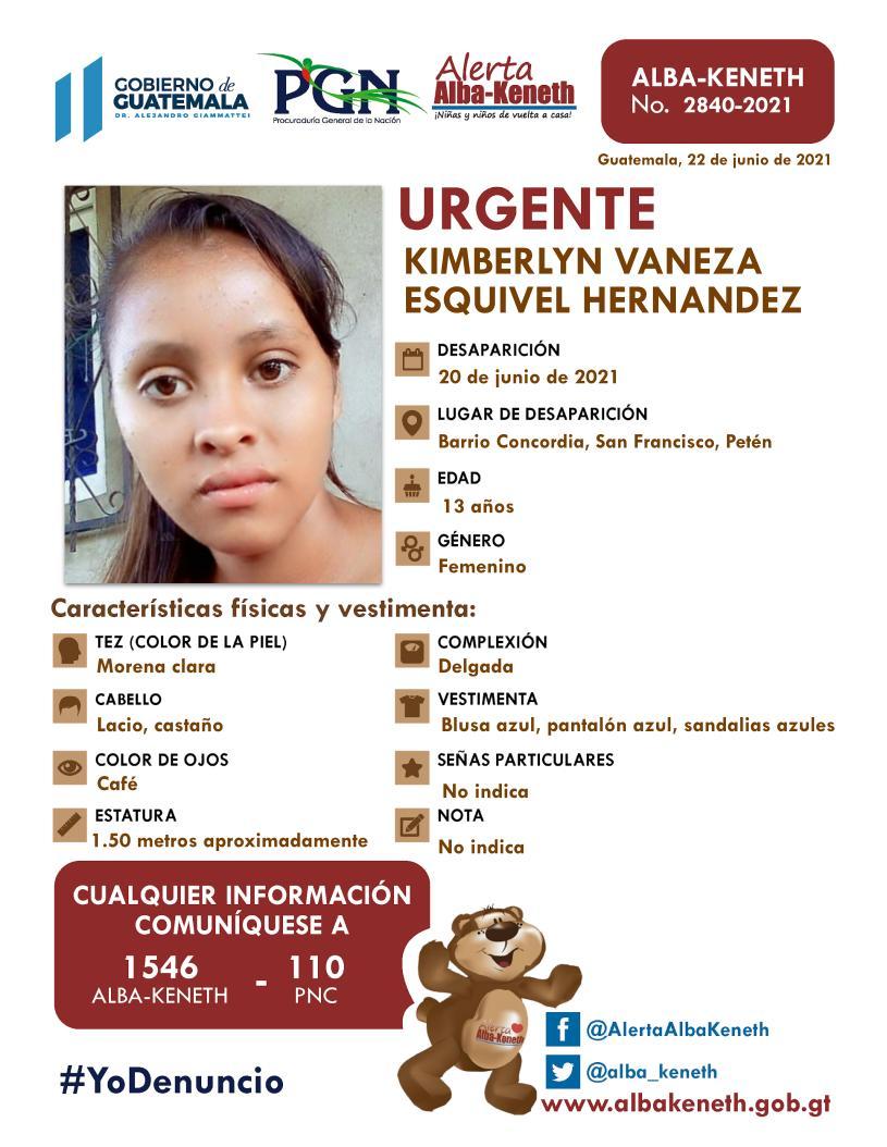 Kimberlyn Vaneza Esquivel Hernandez