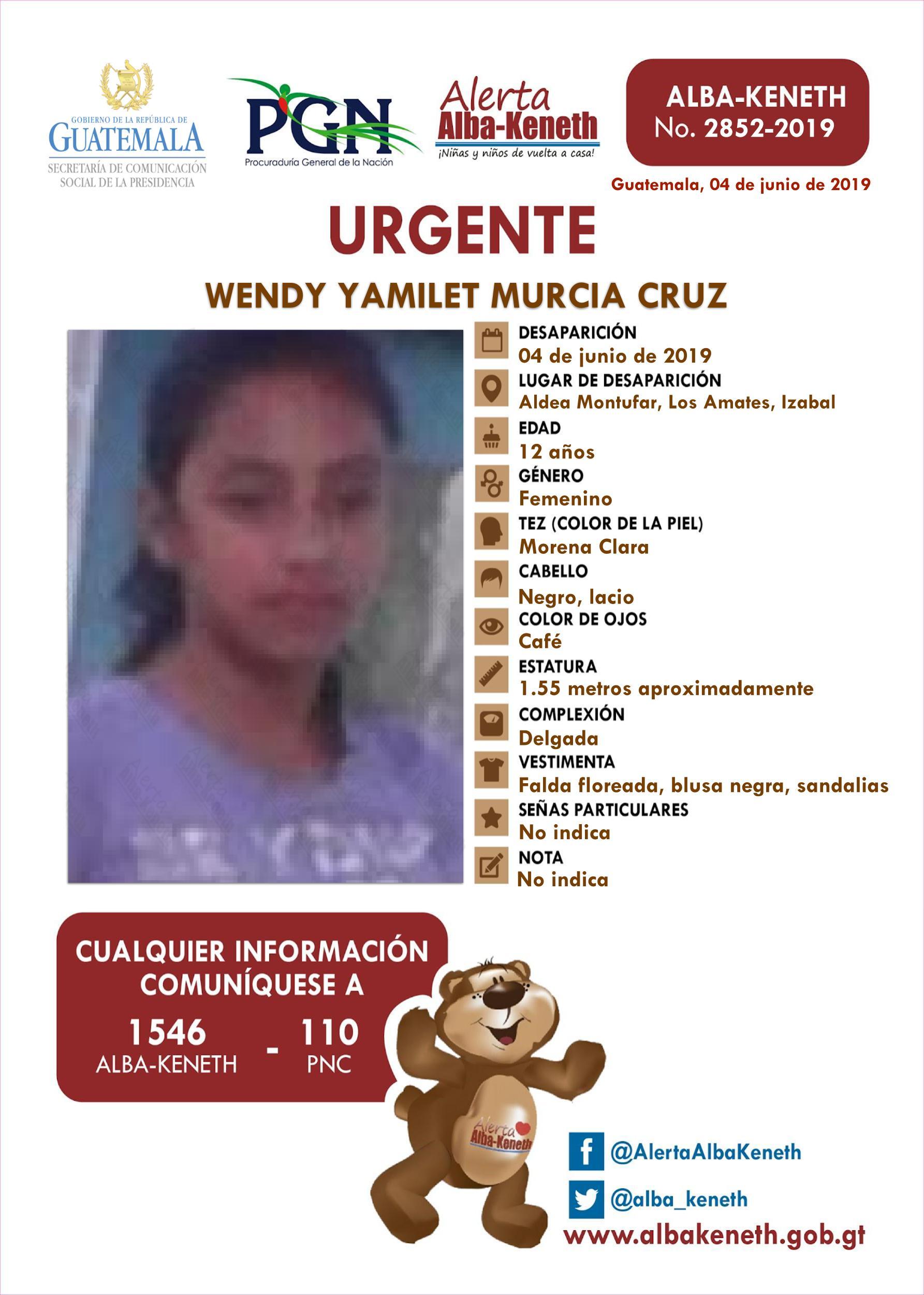 Wendy Yamilet Murcia Cruz