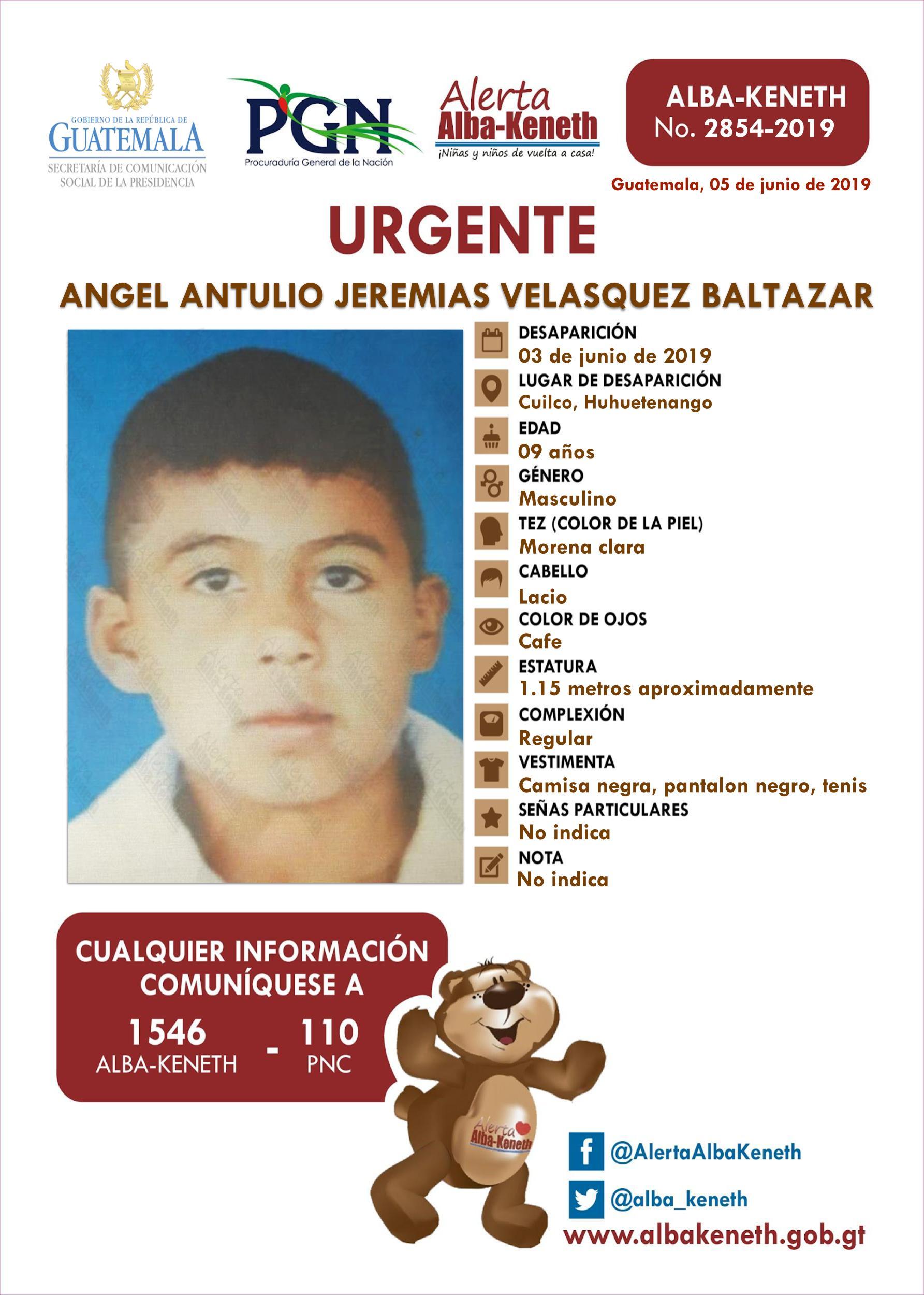 Angel Antulio Jeremias Velasquez Baltazar