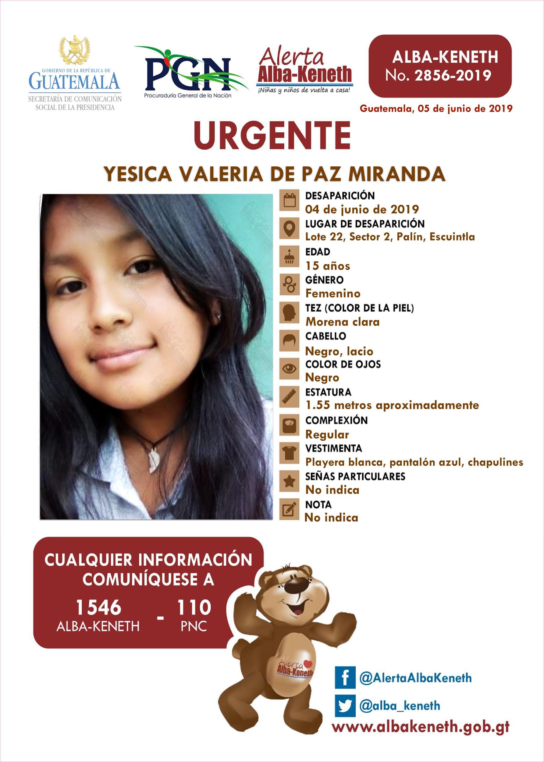 Yesica Valeria de Paz Miranda