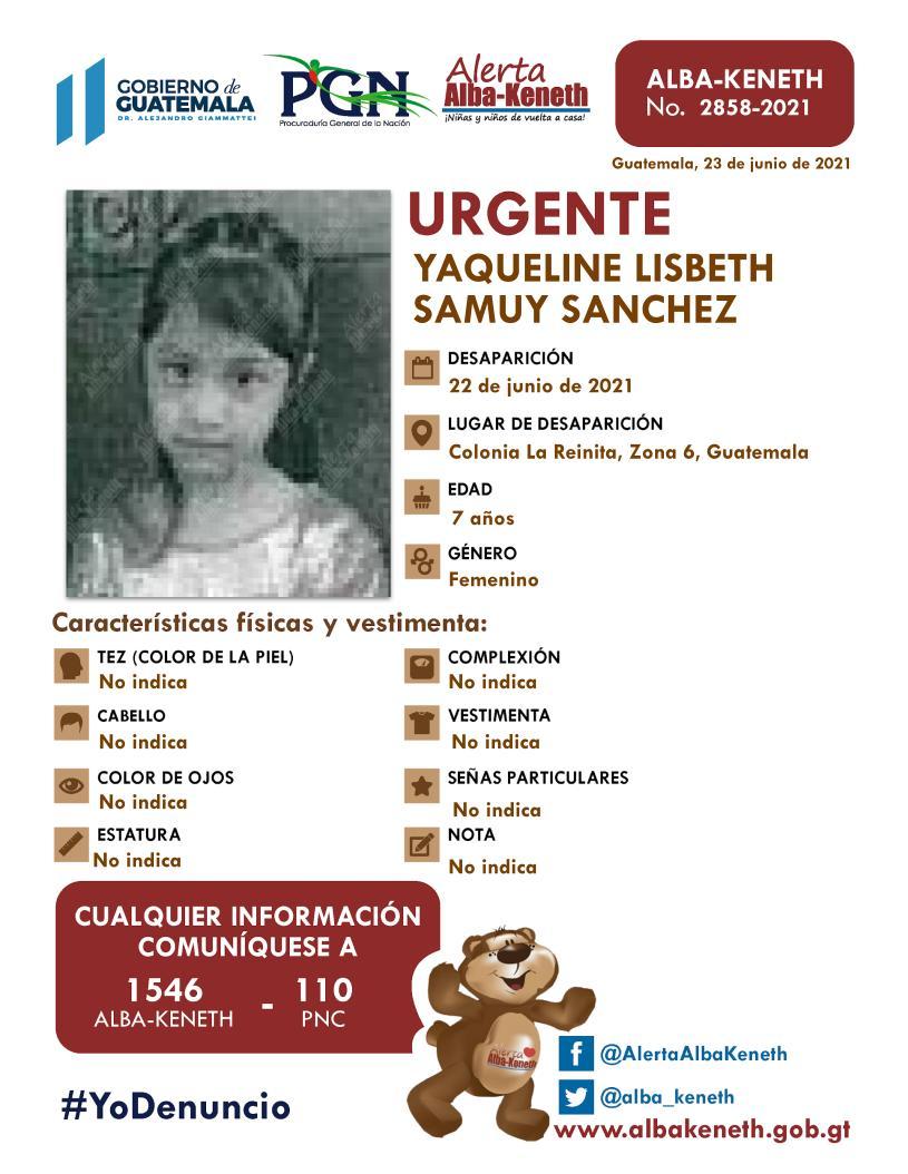Yaqueline Lisbeth Samuy Sanchez