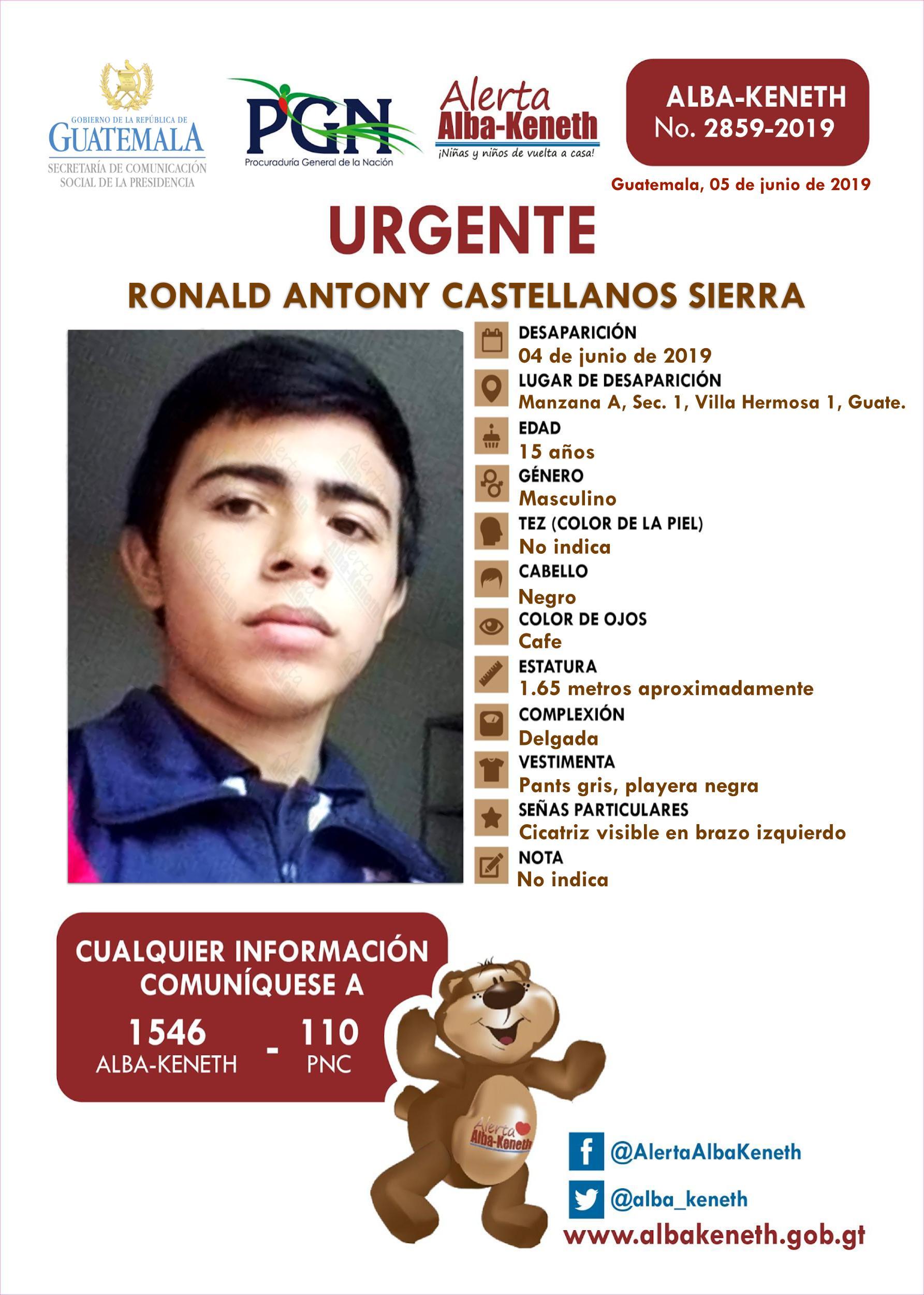 Ronald Antony Castellanos Sierra